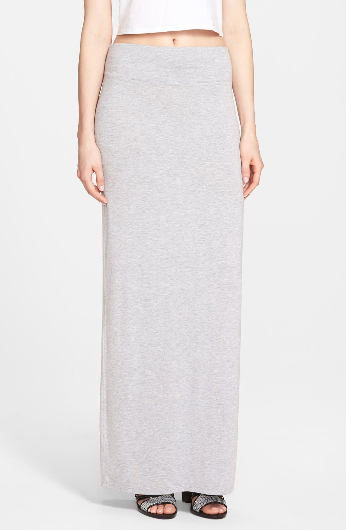 Alternate Image 1 Selected - Leith Heathered Maxi Skirt