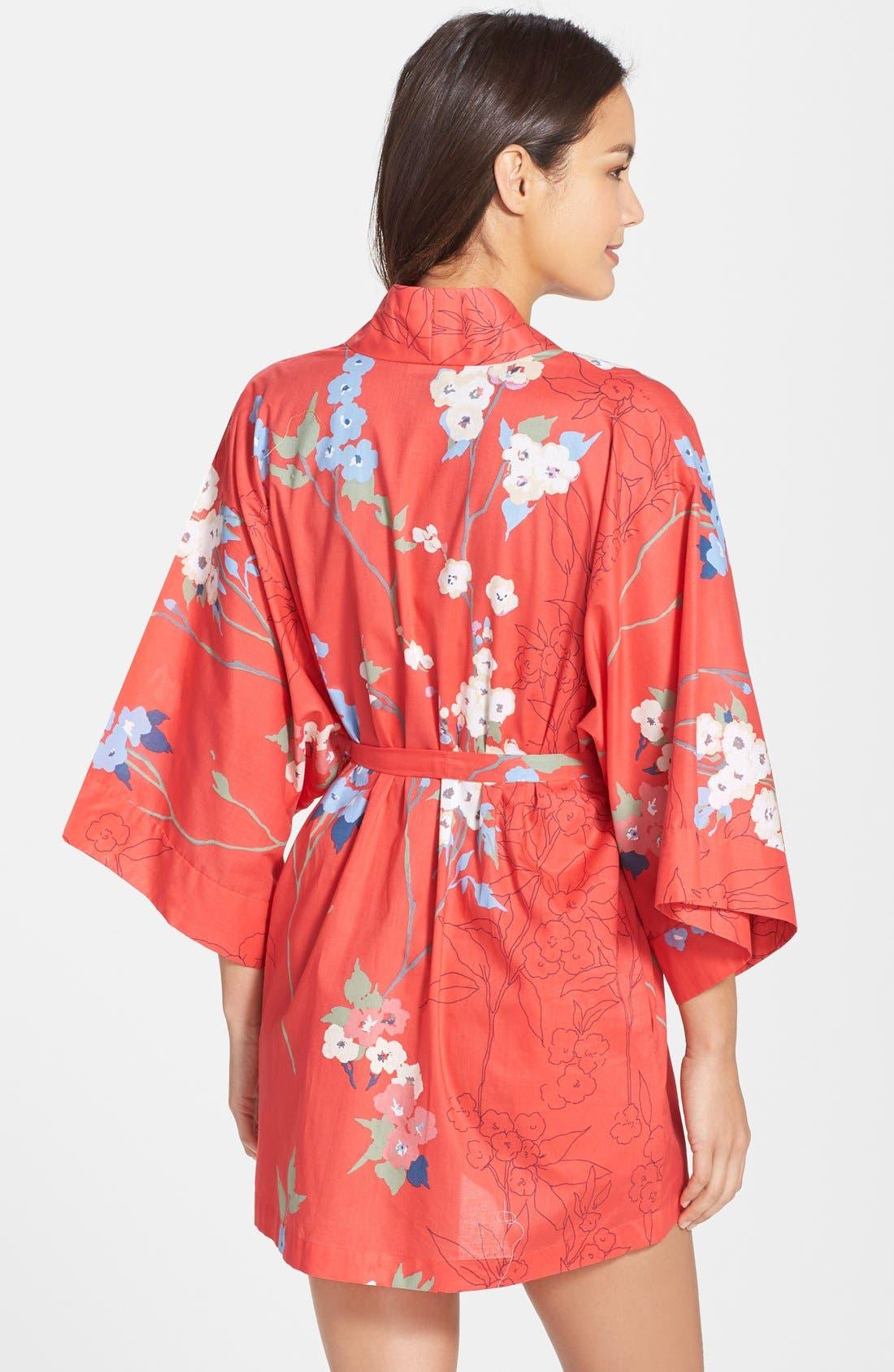 Alternate Image 2  - Natori 'Sakura' Print Wrap Robe