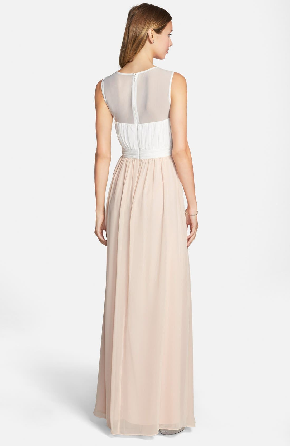 Alternate Image 2  - Hailey by Adrianna Papell Embellished Two-Tone Chiffon Gown
