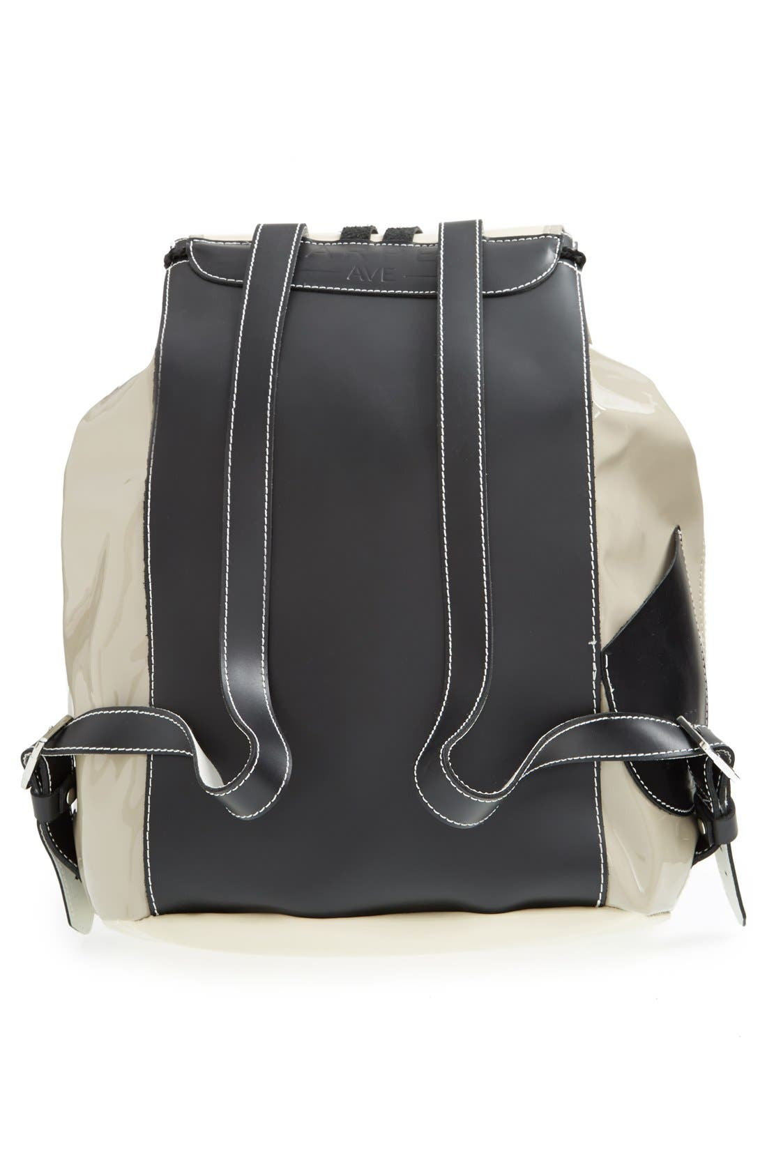 Alternate Image 4  - Harper Ave 'Mueck' Faux Patent Leather Backpack