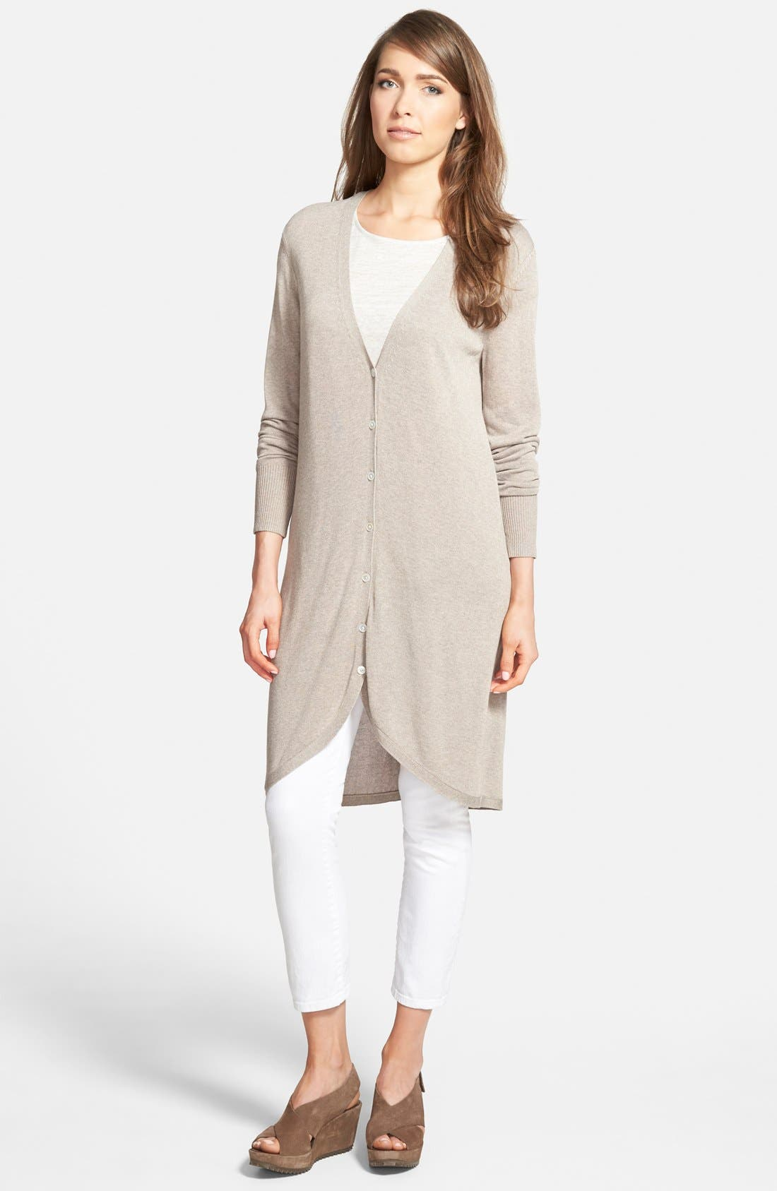 Alternate Image 1 Selected - Nordstrom Collection Long V-Neck Cardigan