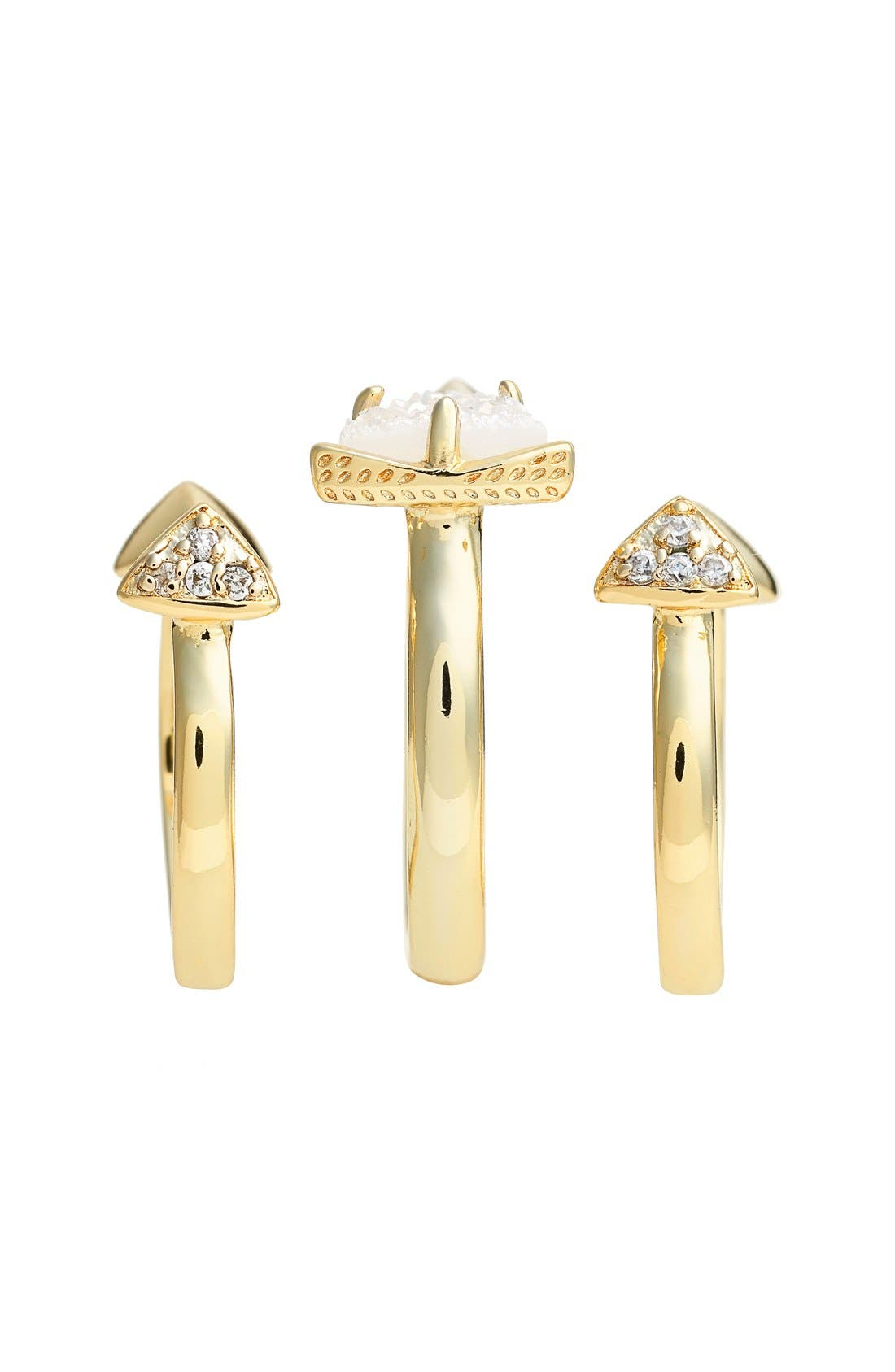 Alternate Image 2  - Kendra Scott 'Brennan' Spiked Open Ring & Midi Rings (Set of 3)