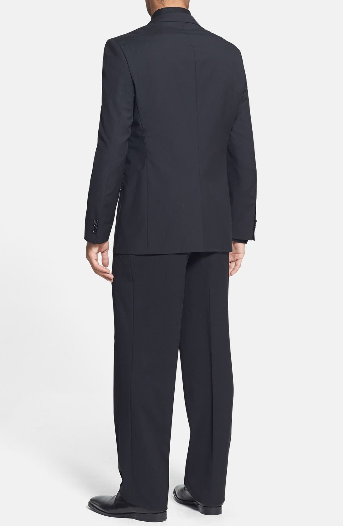 Alternate Image 2  - BOSS 'James/Sharp' Trim Fit Black Super 120s Wool Suit