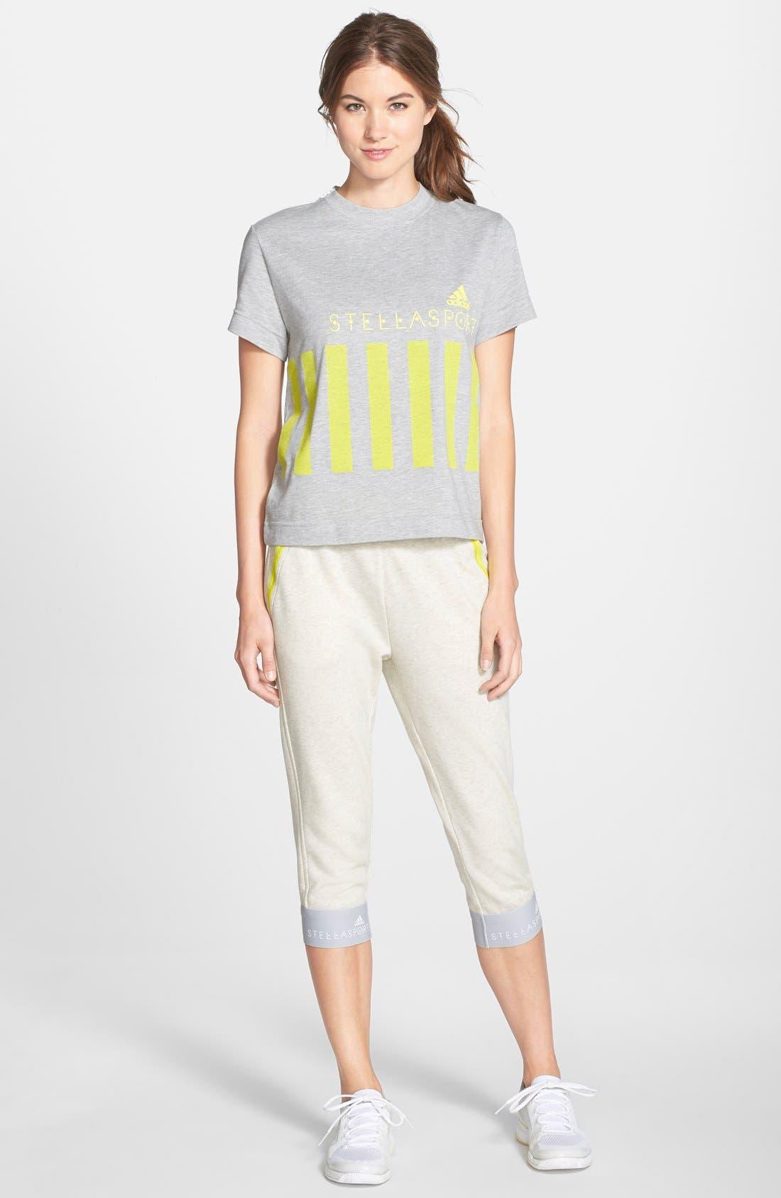 Alternate Image 3  - adidas by Stella McCartney Crop Cotton Sweatpants