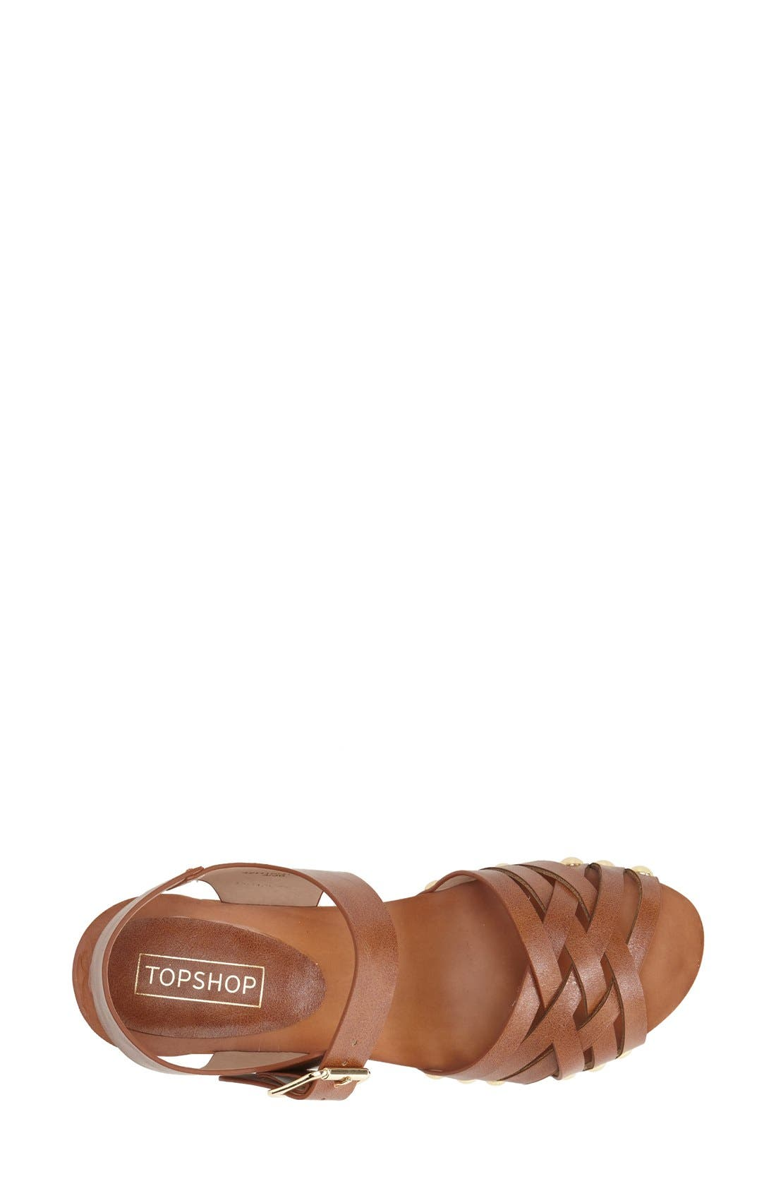 Alternate Image 3  - Topshop Clog Wedge Sandal (Women)