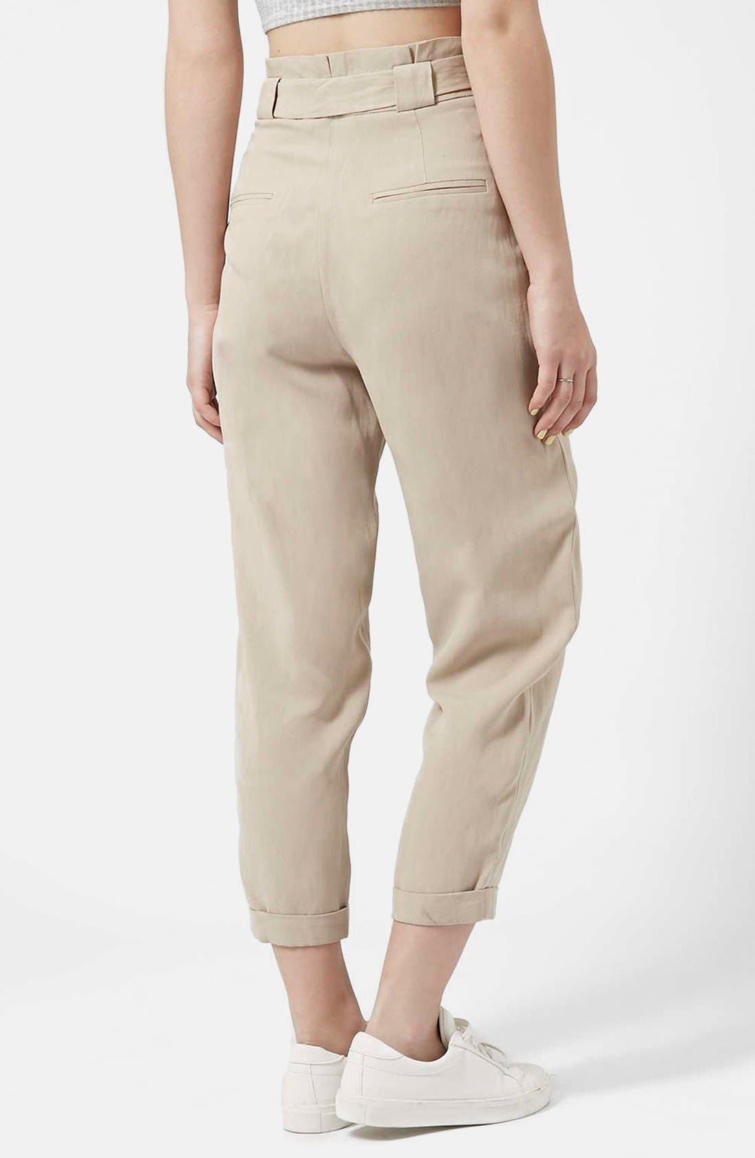 Alternate Image 2  - Topshop D-Ring Tapered Trousers