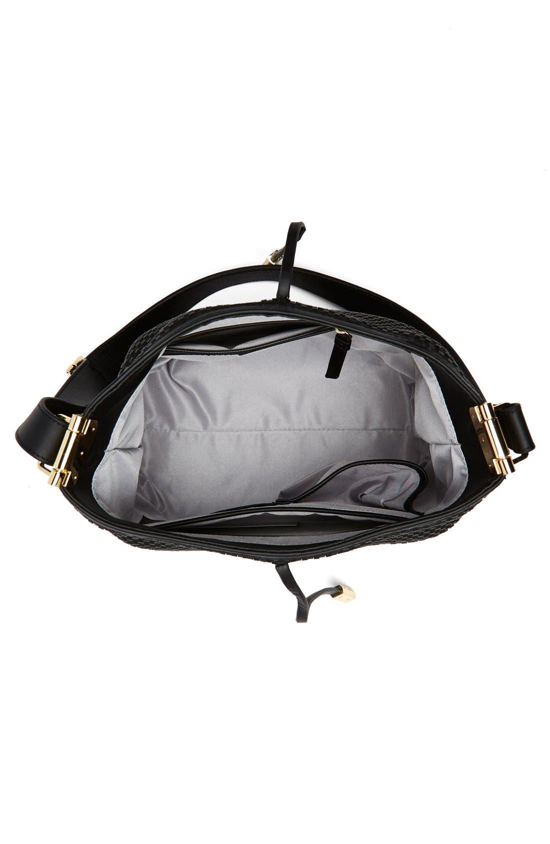 Alternate Image 3  - Ivanka Trump 'Briarcliff' Woven Leather Bucket Bag
