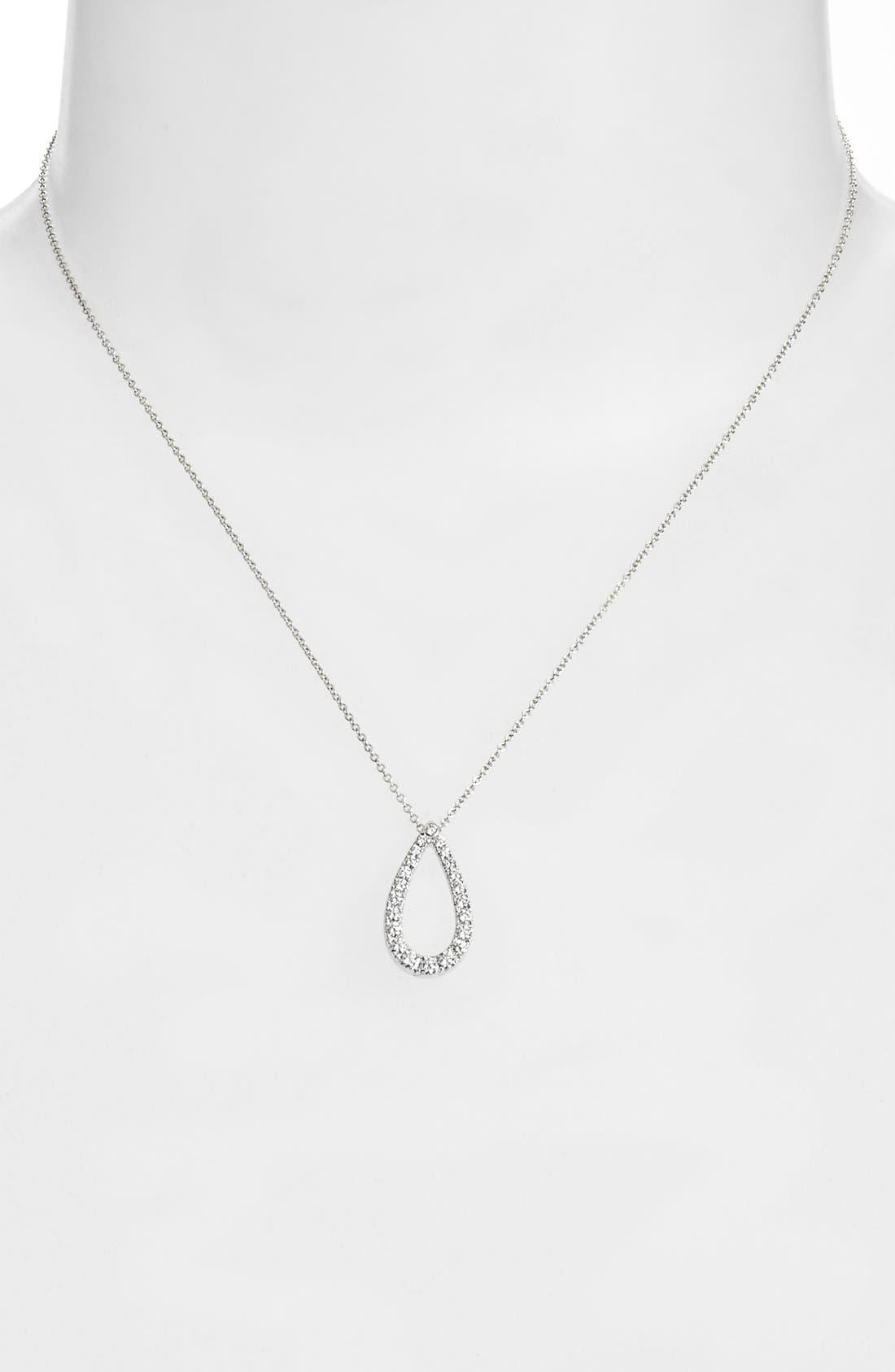 Alternate Image 2  - Kwiat 'Contorno' Teardrop Diamond Pendant Necklace