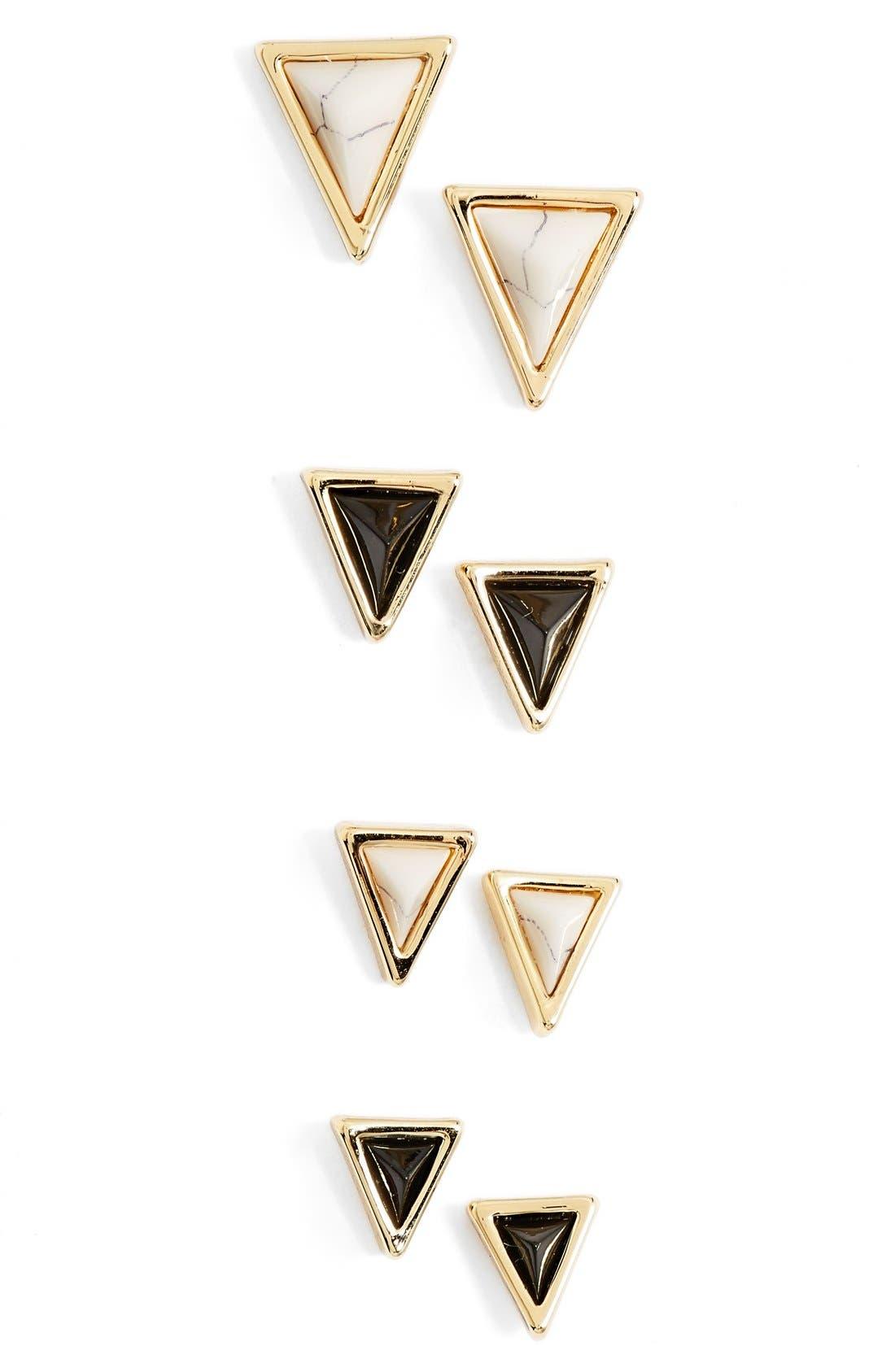Alternate Image 1 Selected - House of Harlow 1960 'Meteoria' Stud Earrings (Set of 4)