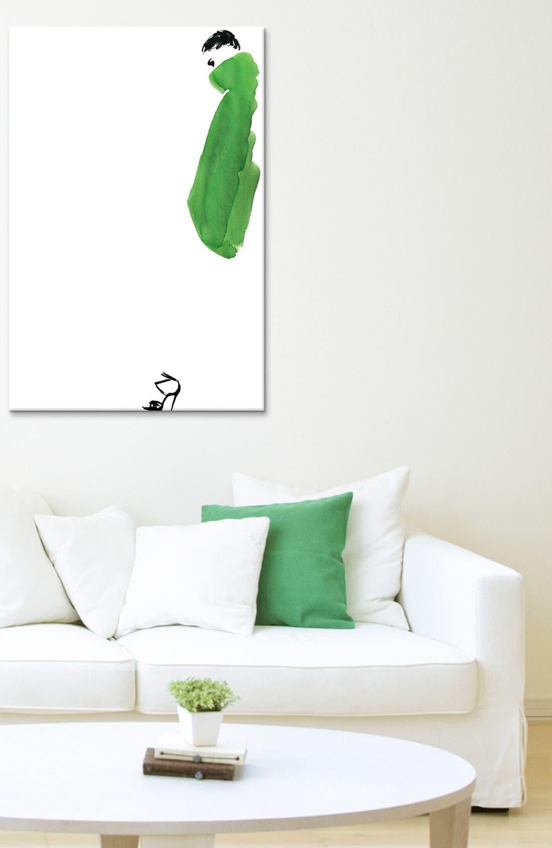 Alternate Image 2  - iCanvas 'Green Coat Girl - Judith van den Hoek' Giclée Print Canvas Art