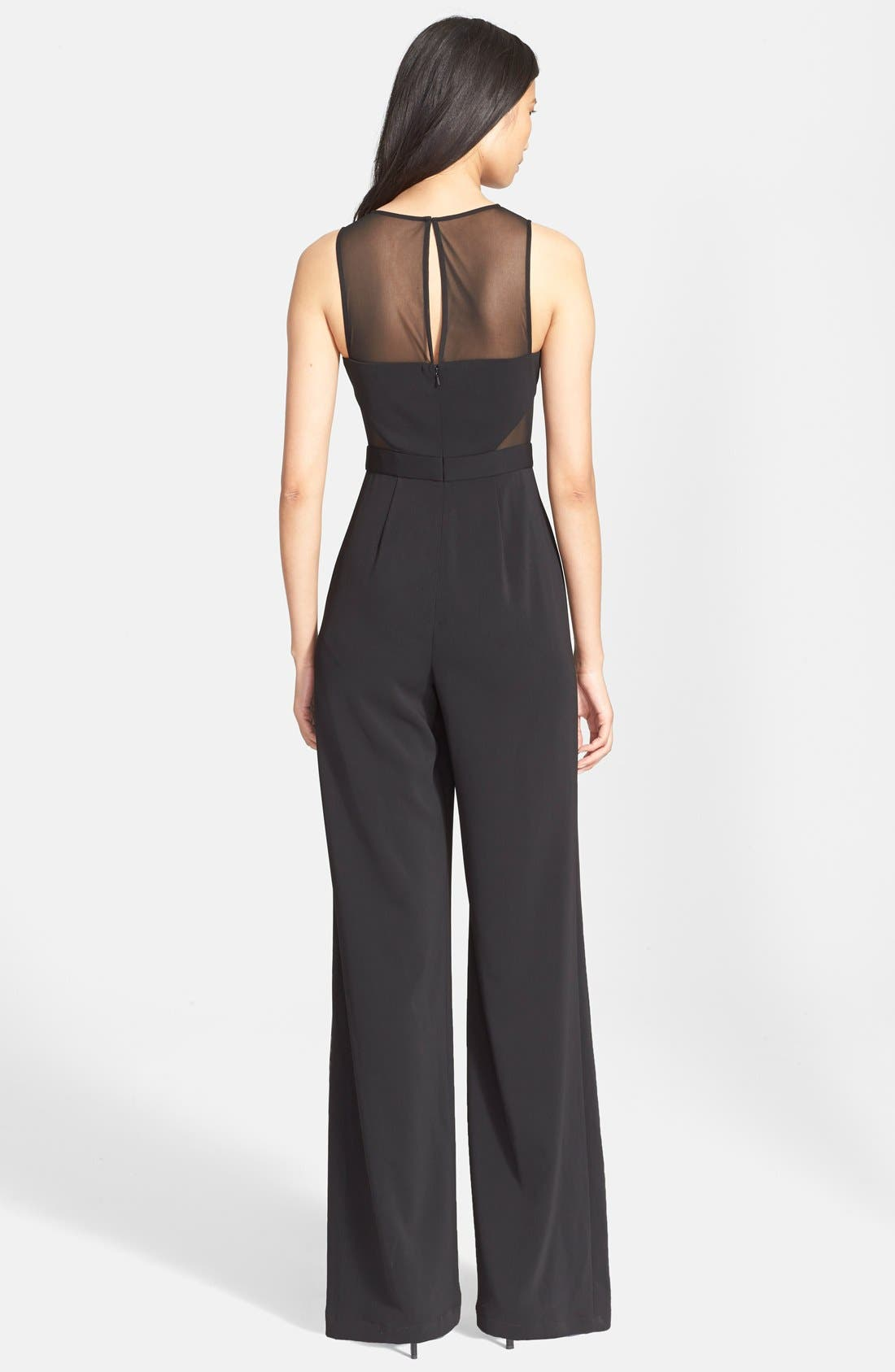Alternate Image 2  - Jay Godfrey Sheer Panel Crepe Jumpsuit