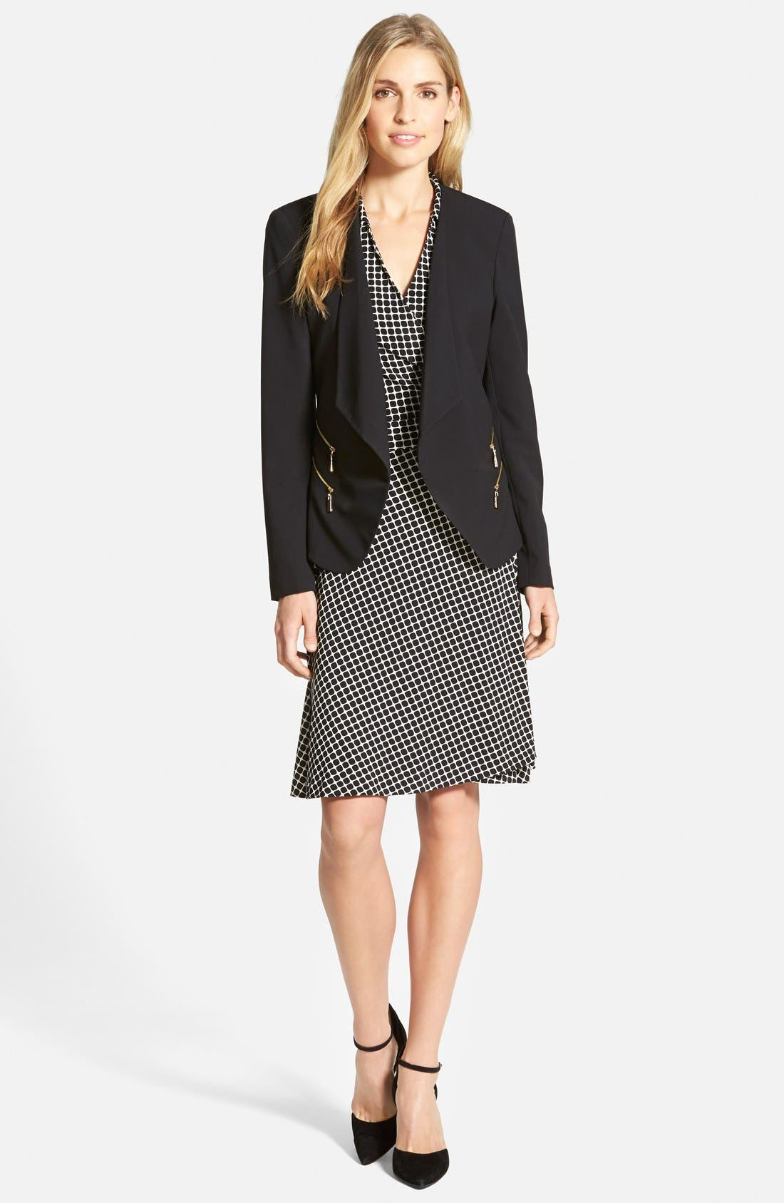 Alternate Image 4  - Vince Camuto 'Graphic Boxes' Sleeveless Wrap Dress (Regular & Petite) (Nordstrom Online Exclusive)