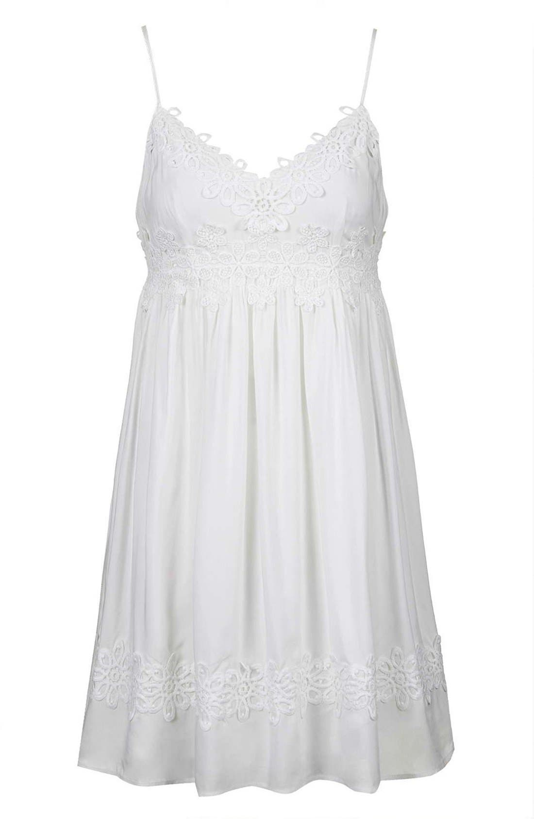 Alternate Image 4  - Topshop Strappy Appliqué Babydoll Dress
