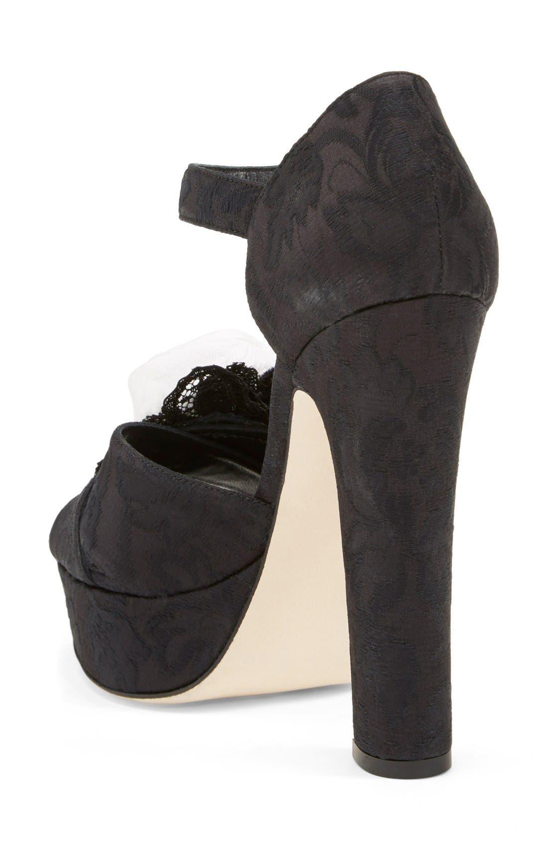 Alternate Image 2  - Dolce&Gabbana Ankle Strap Platform Sandal (Women)