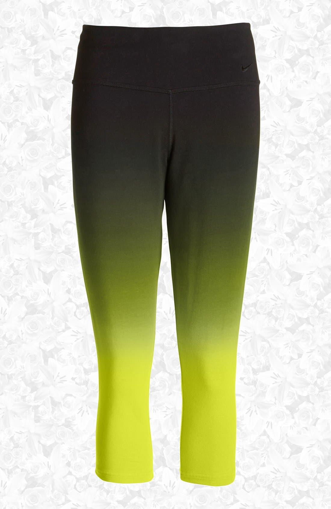 Alternate Image 1 Selected - Nike 'Legend 2.0 Sunset Tight' Dri-FIT Training Capri Leggings (Women)