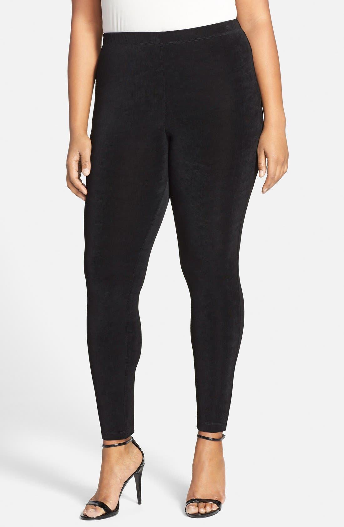 Vikki Vi Stretch Knit Slim Pants (Plus Size)
