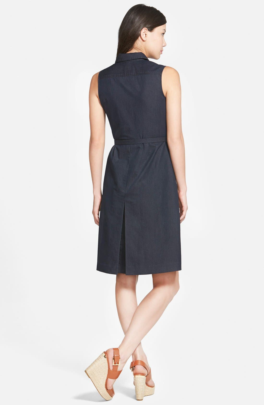 Alternate Image 2  - Halogen® Belted Sleeveless Shirtdress (Regular & Petite)