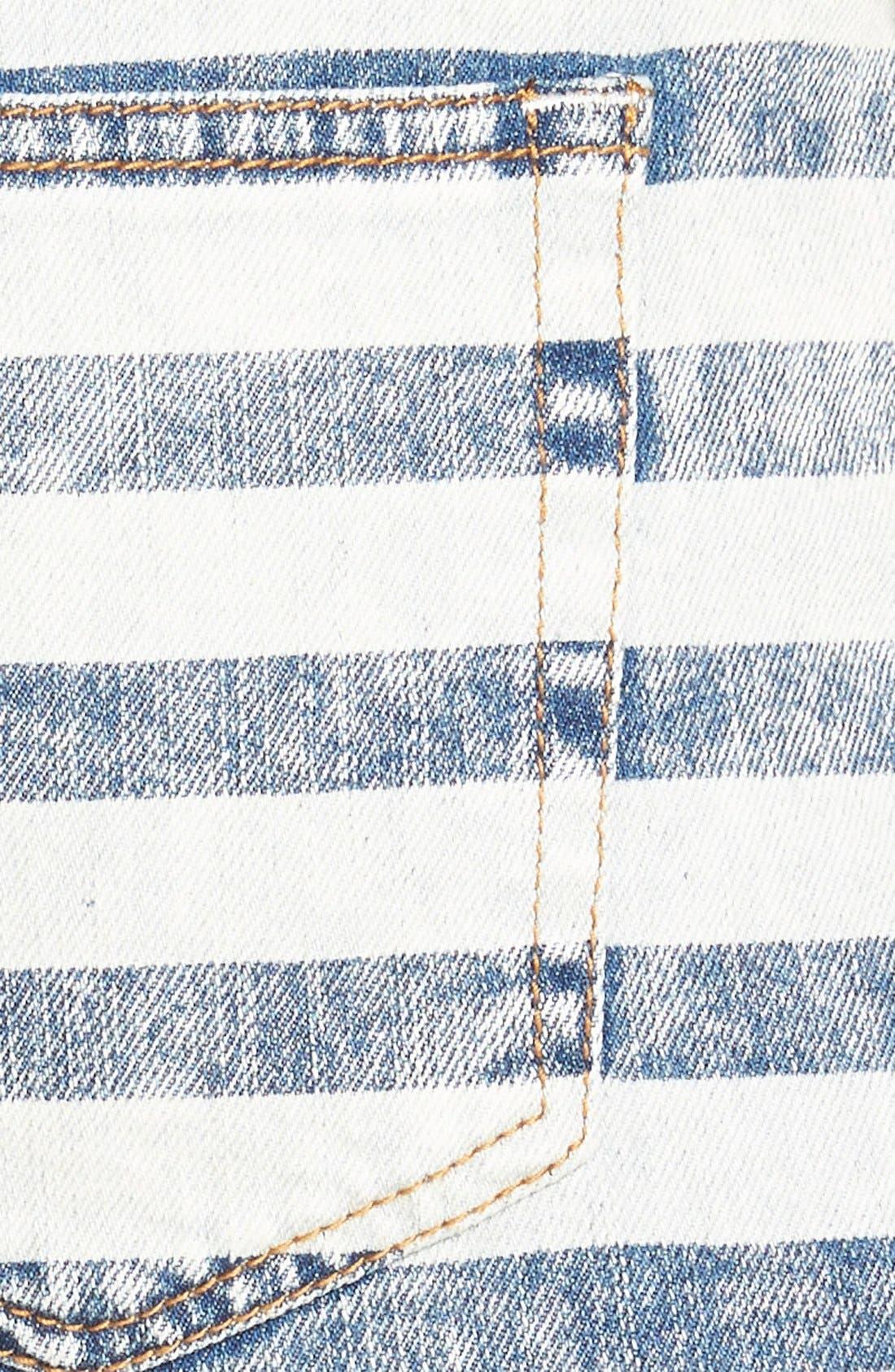Alternate Image 3  - Fire Stripe High Waist Cuffed Shorts (Acid)
