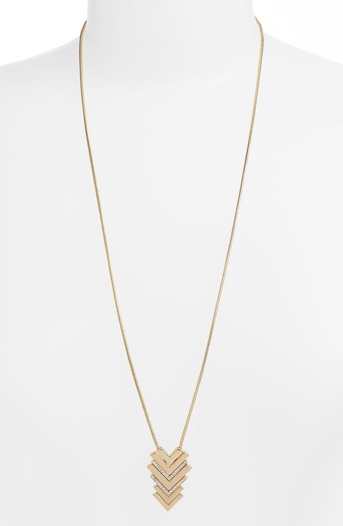 Alternate Image 2  - Lonna & Lilly Chevron Pendant Necklace