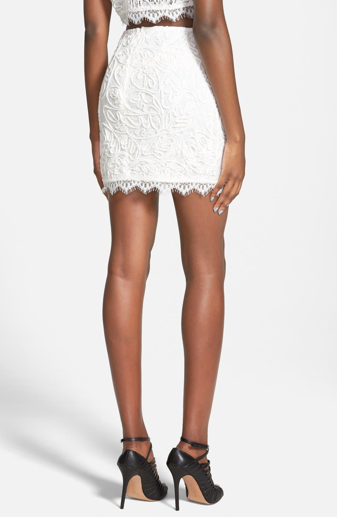 Alternate Image 2  - Leith Lace Miniskirt