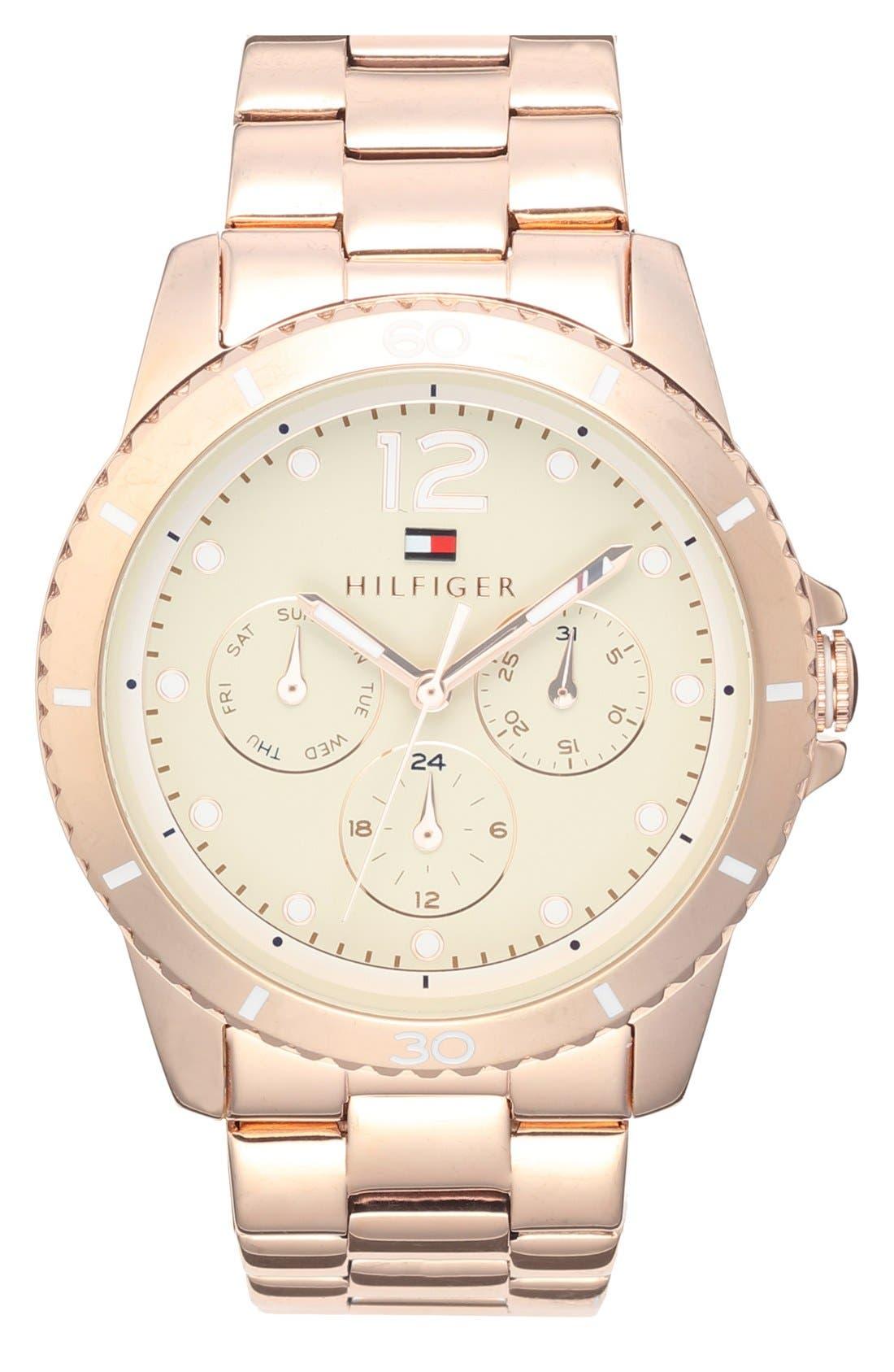 Main Image - Tommy Hilfiger Multifunction Bracelet Watch, 38mm