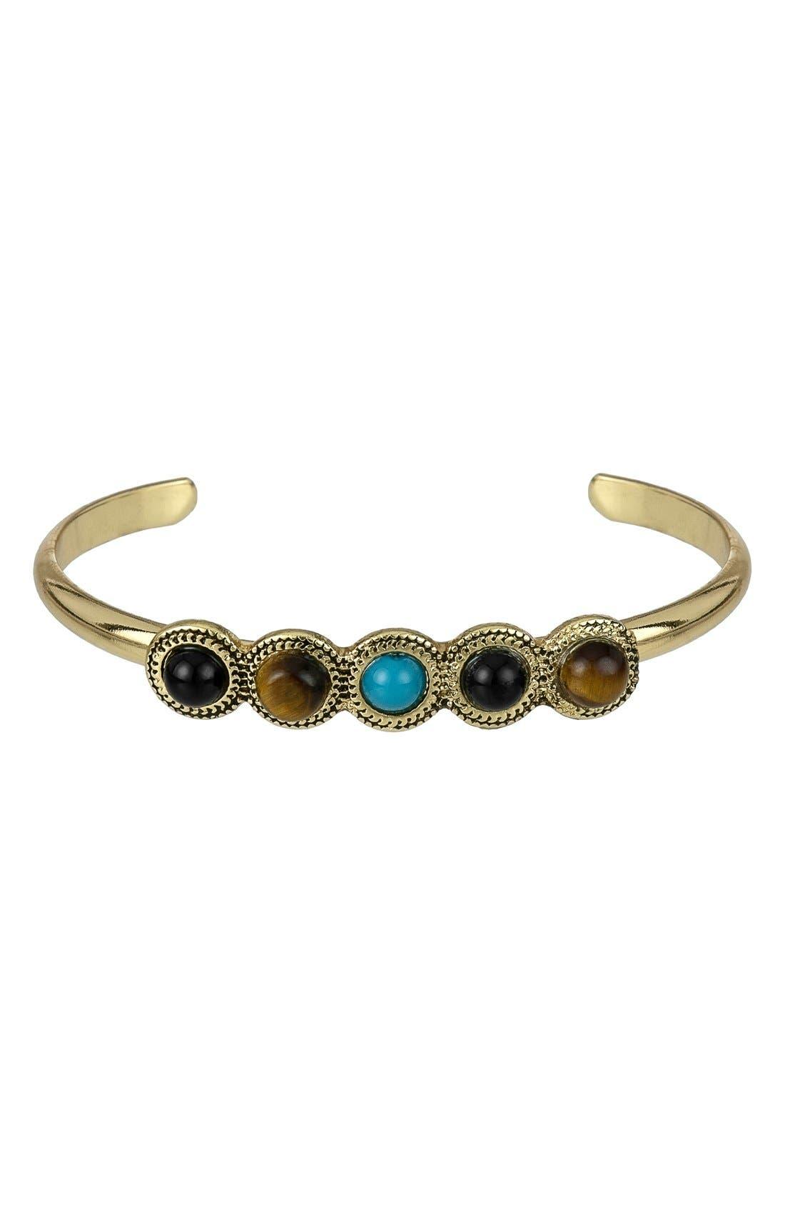 Alternate Image 1 Selected - Sam Edelman Stone Cuff Bracelet