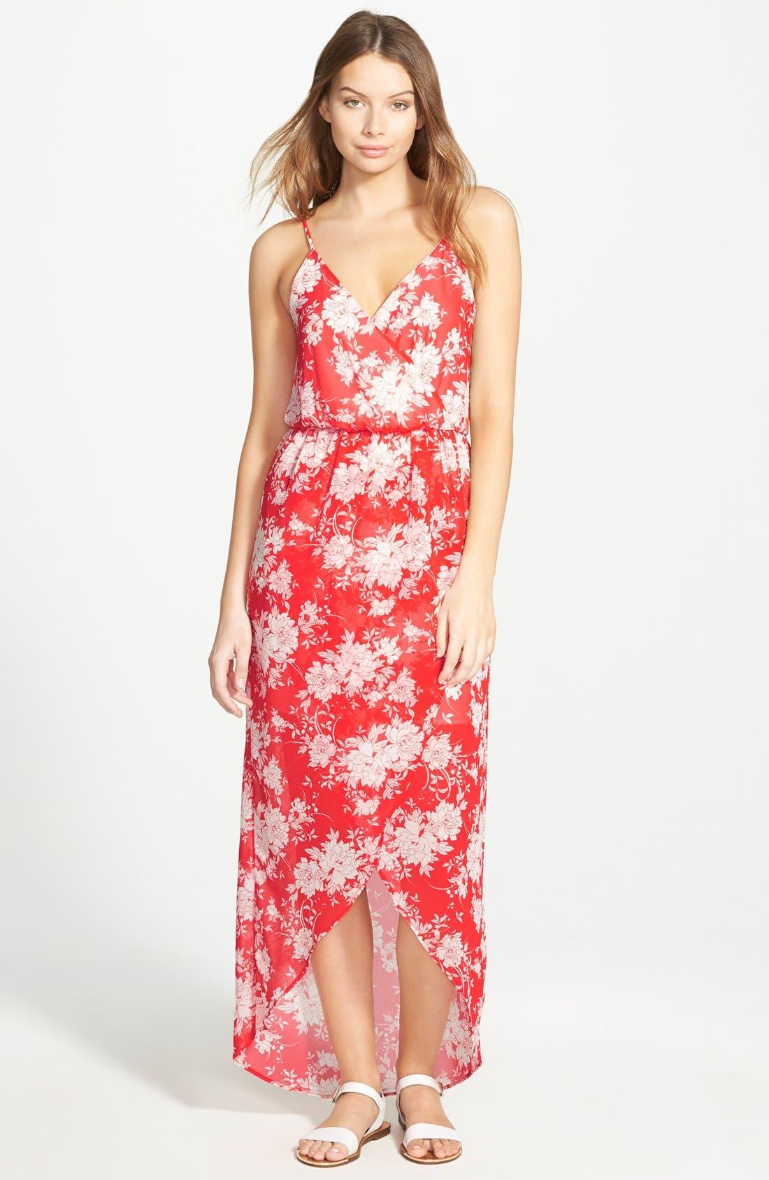 Alternate Image 1 Selected - Lush Tulip Hem Maxi Dress