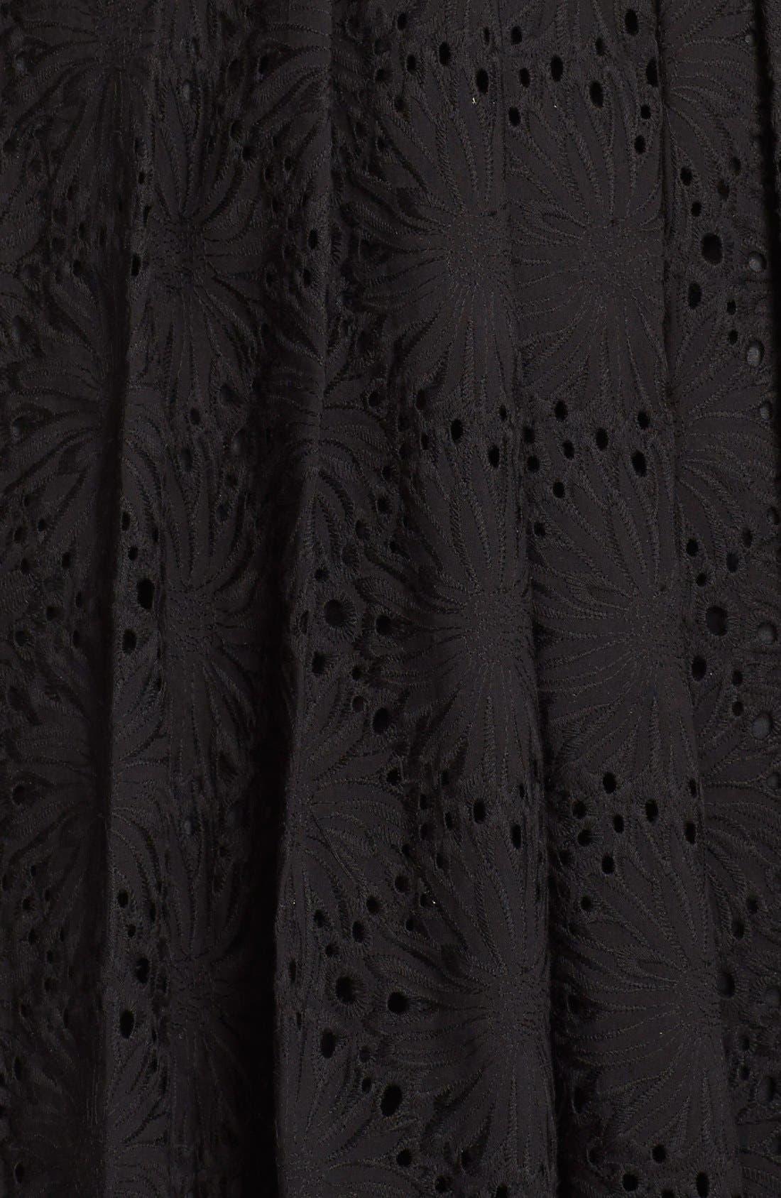 Alternate Image 4  - Adrianna Papell Eyelet Fit & Flare Dress