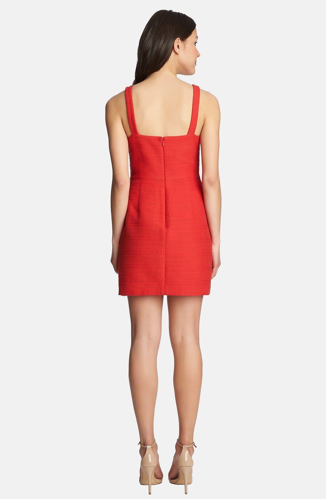 Alternate Image 2  - 1.STATE Square Neck Tweed Dress