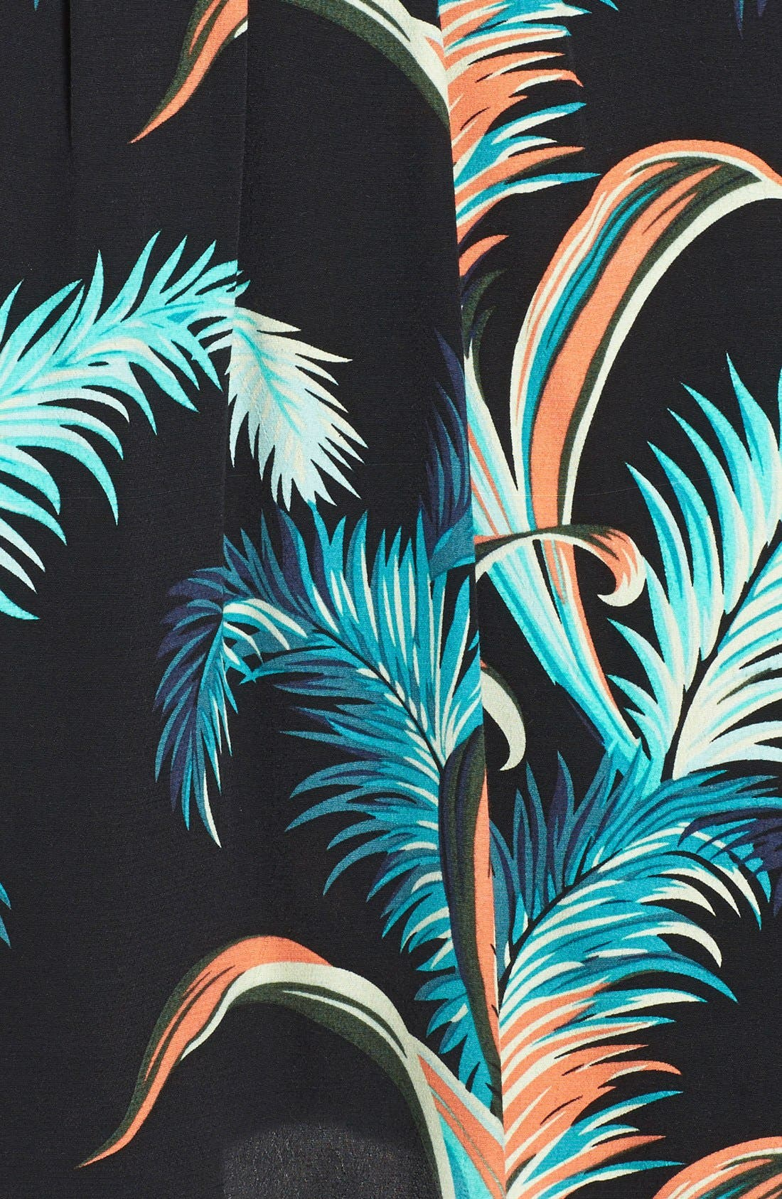 Alternate Image 4  - Adrianna Papell Palm Print Crepe Shift Dress