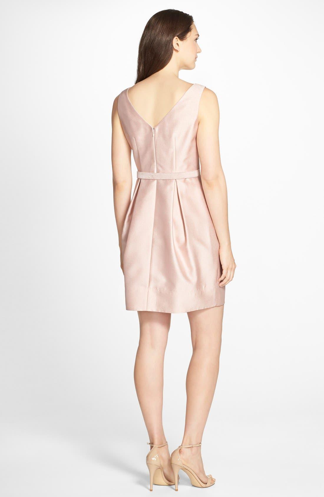 Alternate Image 2  - Eliza J Embellished Jacquard Tulip Dress (Regular & Petite)