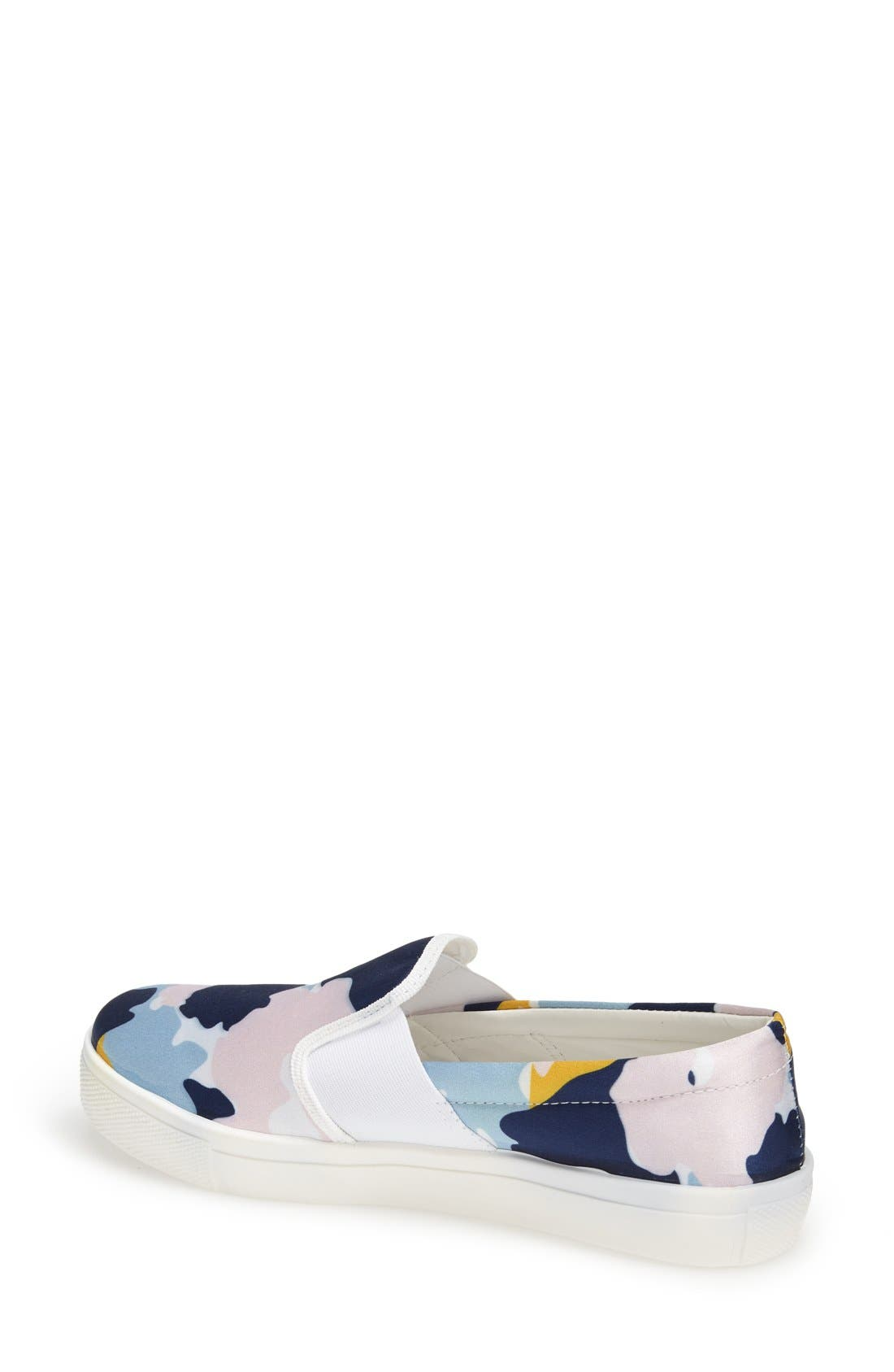 Alternate Image 2  - Topshop 'Tiga - Smudge Print' Slip-On Skater Shoe (Women)