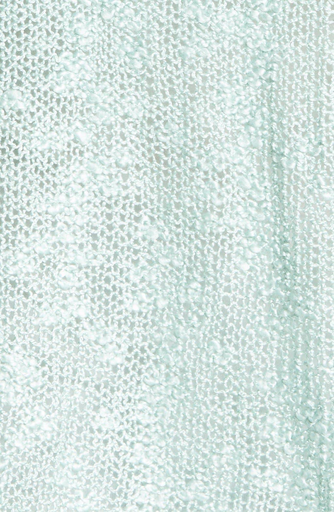Alternate Image 3  - Woven Heart Lace Trim Sweater