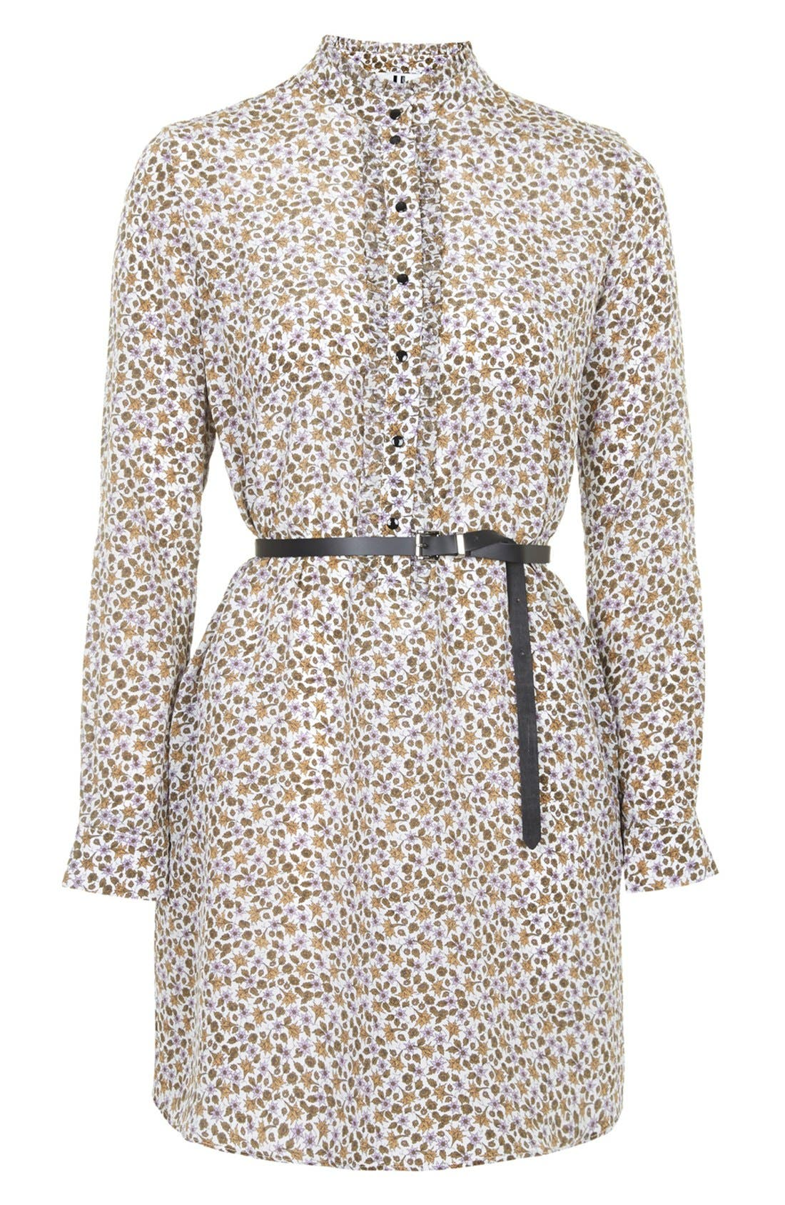 Alternate Image 3  - Topshop Unique 'Ottoline' Floral Print Silk Tunic
