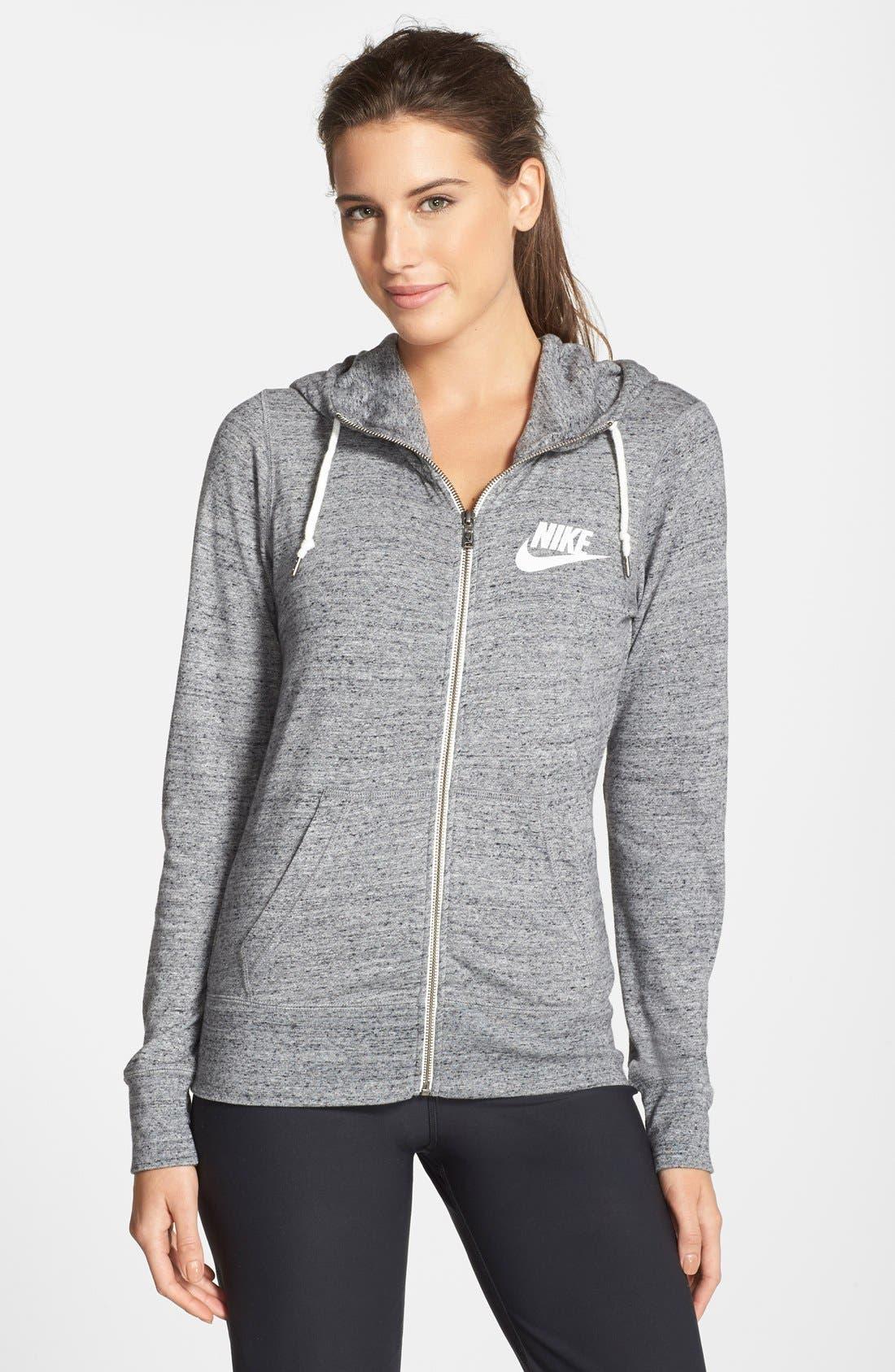Alternate Image 1 Selected - Nike 'Gym Vintage' Zip Front Hoodie