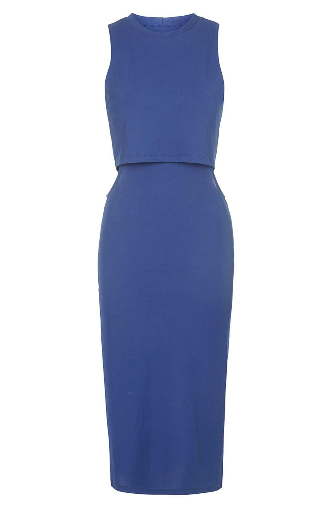 Alternate Image 3  - Topshop Sleeveless Cutout Midi Dress