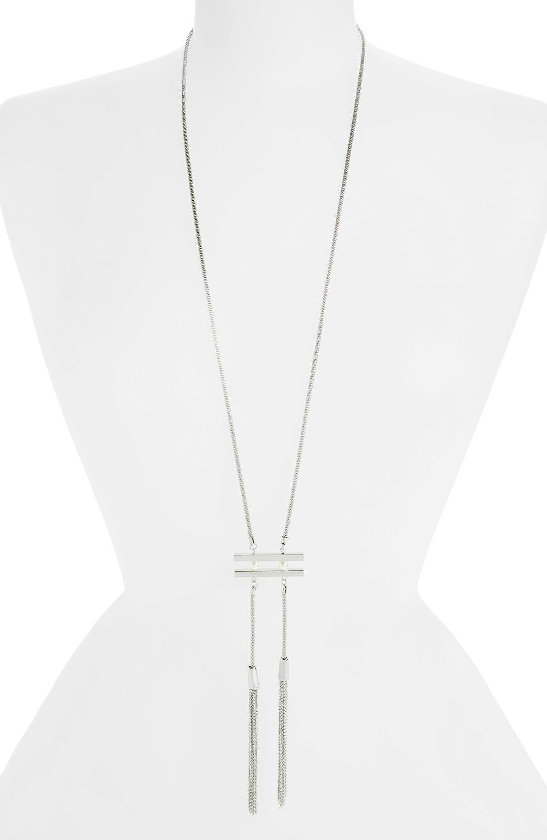 Main Image - Topshop Tassel Necklace