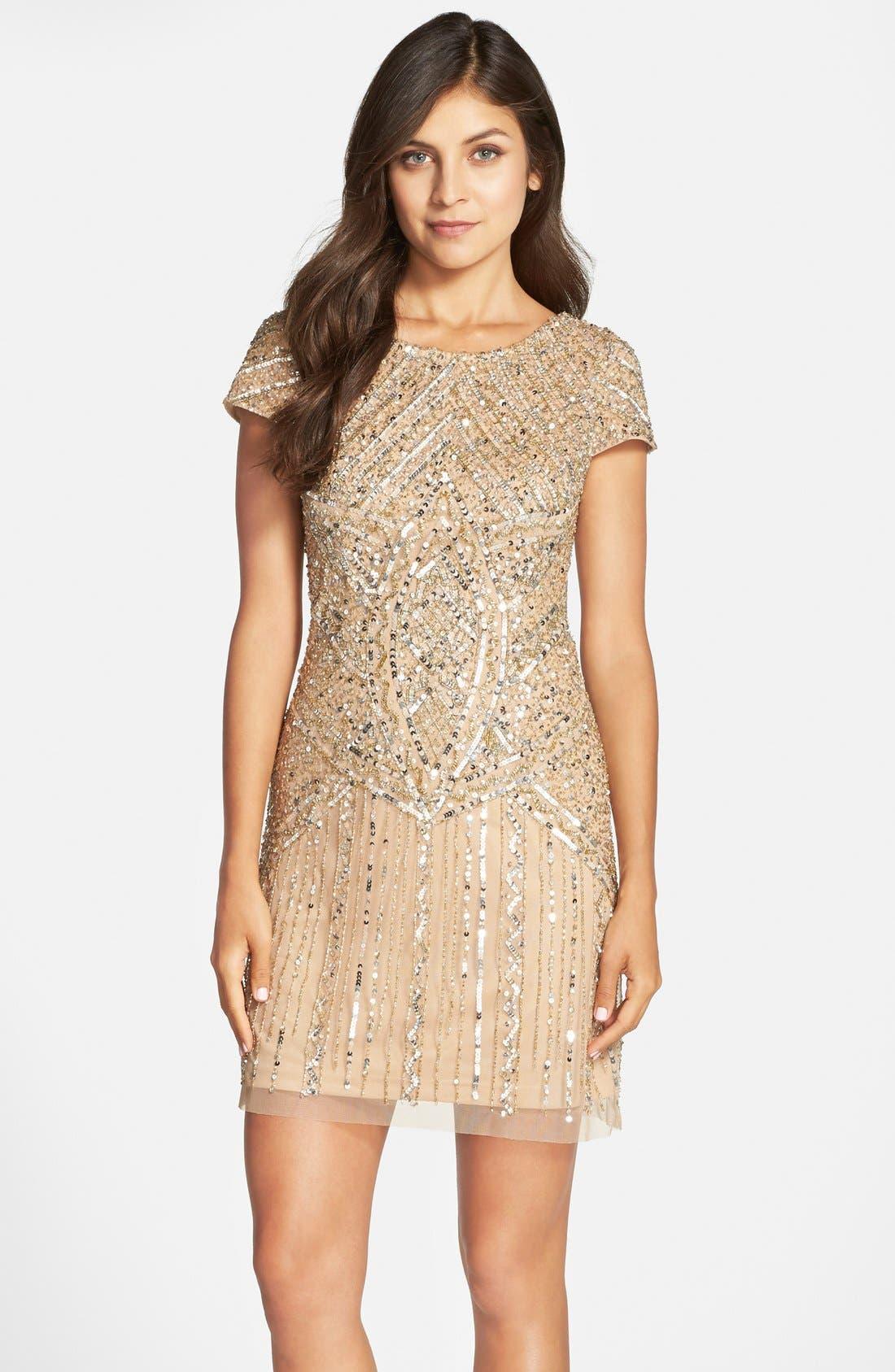 Alternate Image 1 Selected - Adrianna Papell Embellished Sheath Dress