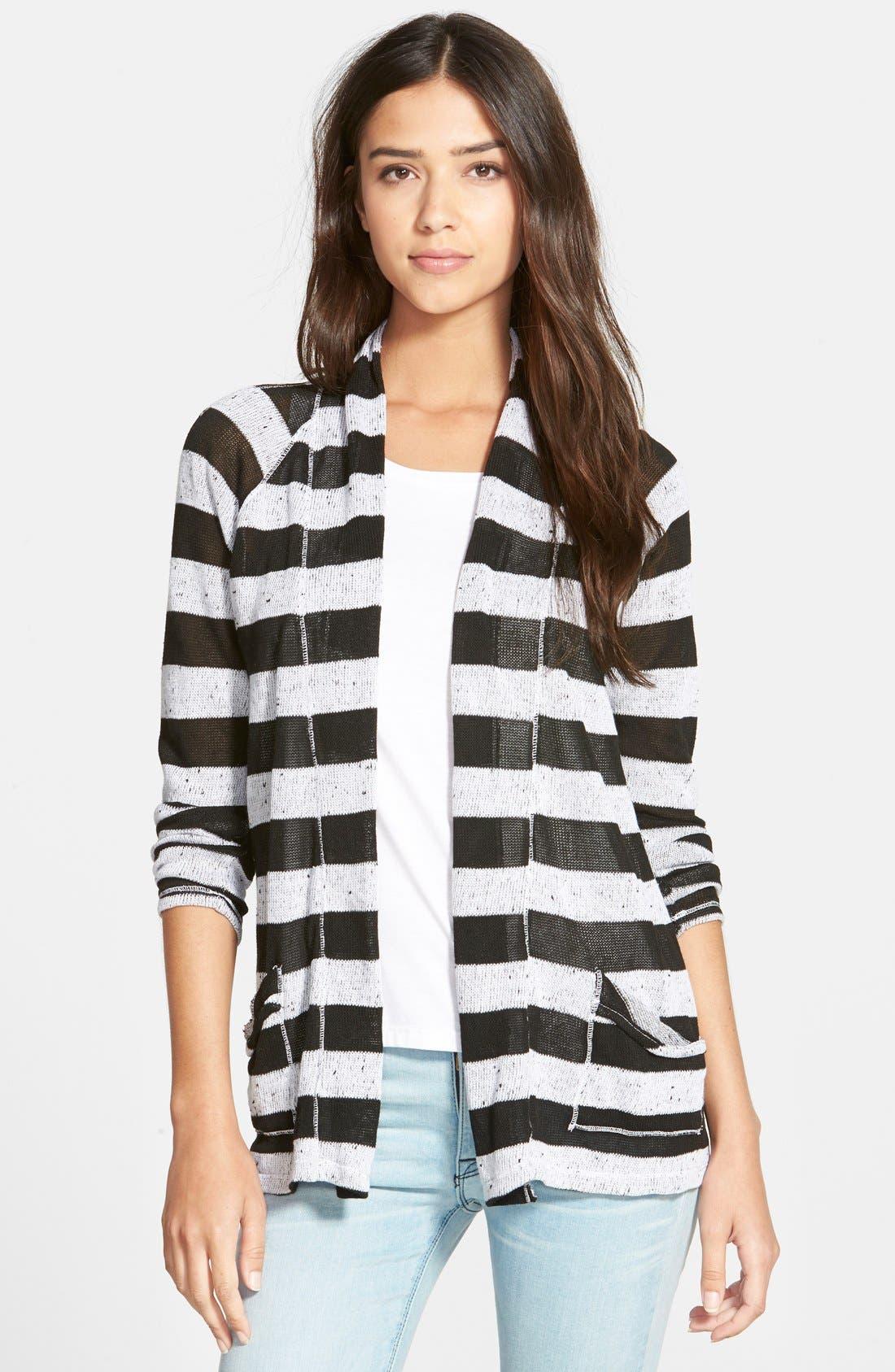 Alternate Image 1 Selected - Stateside Stripe Cardigan
