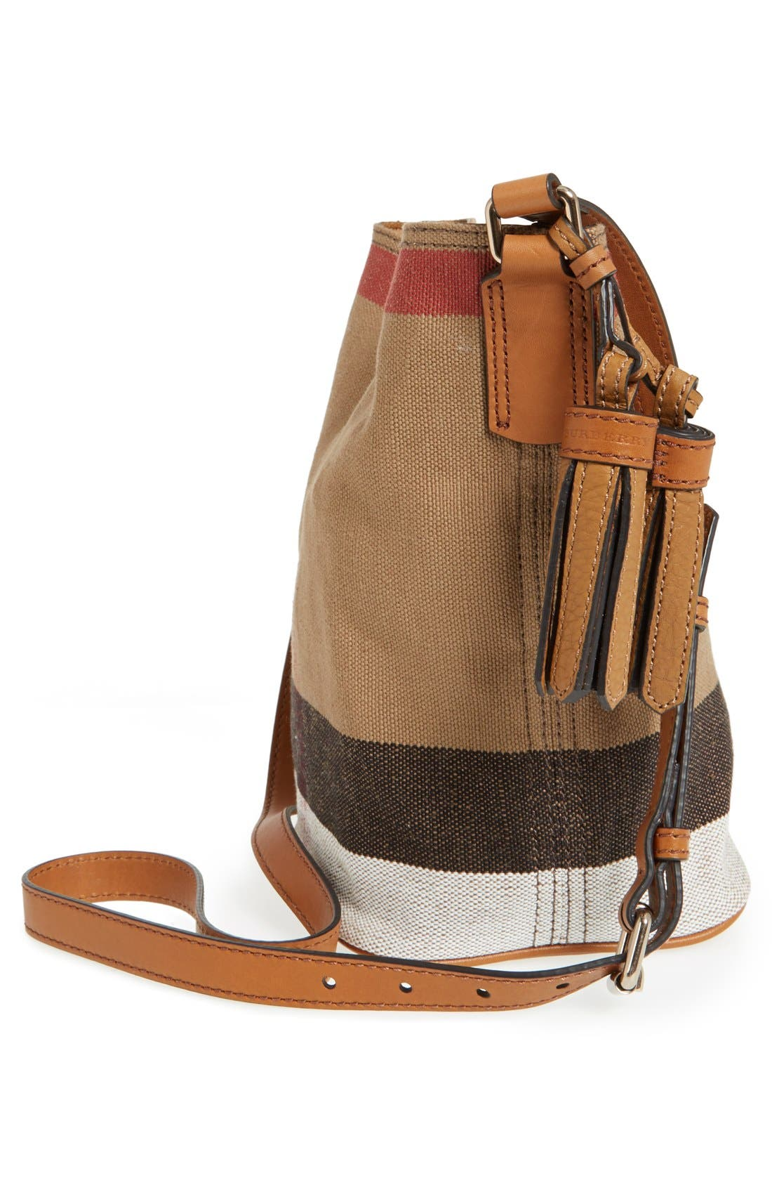 Alternate Image 5  - Burberry Brit 'Mini Ashby' Canvas Check Crossbody Bucket Bag