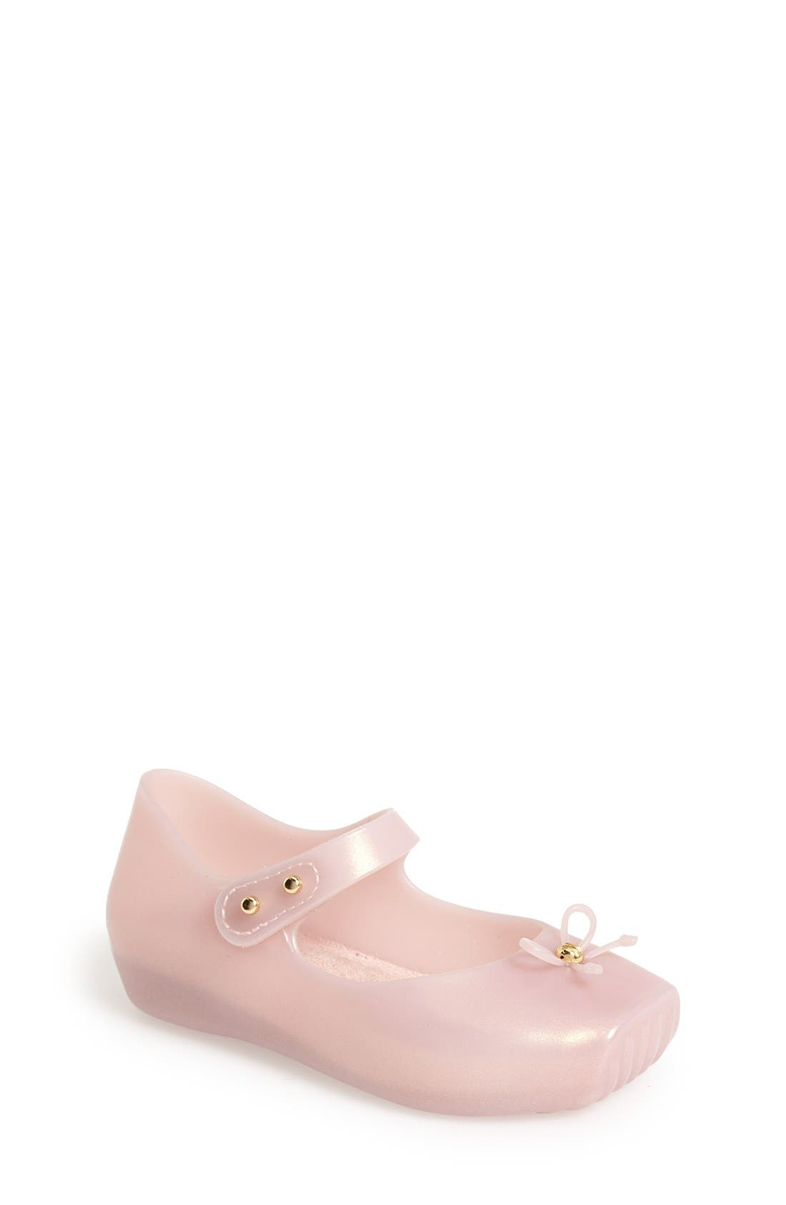 Alternate Image 1 Selected - Mini Melissa Ballet Slip-On (Walker & Toddler)