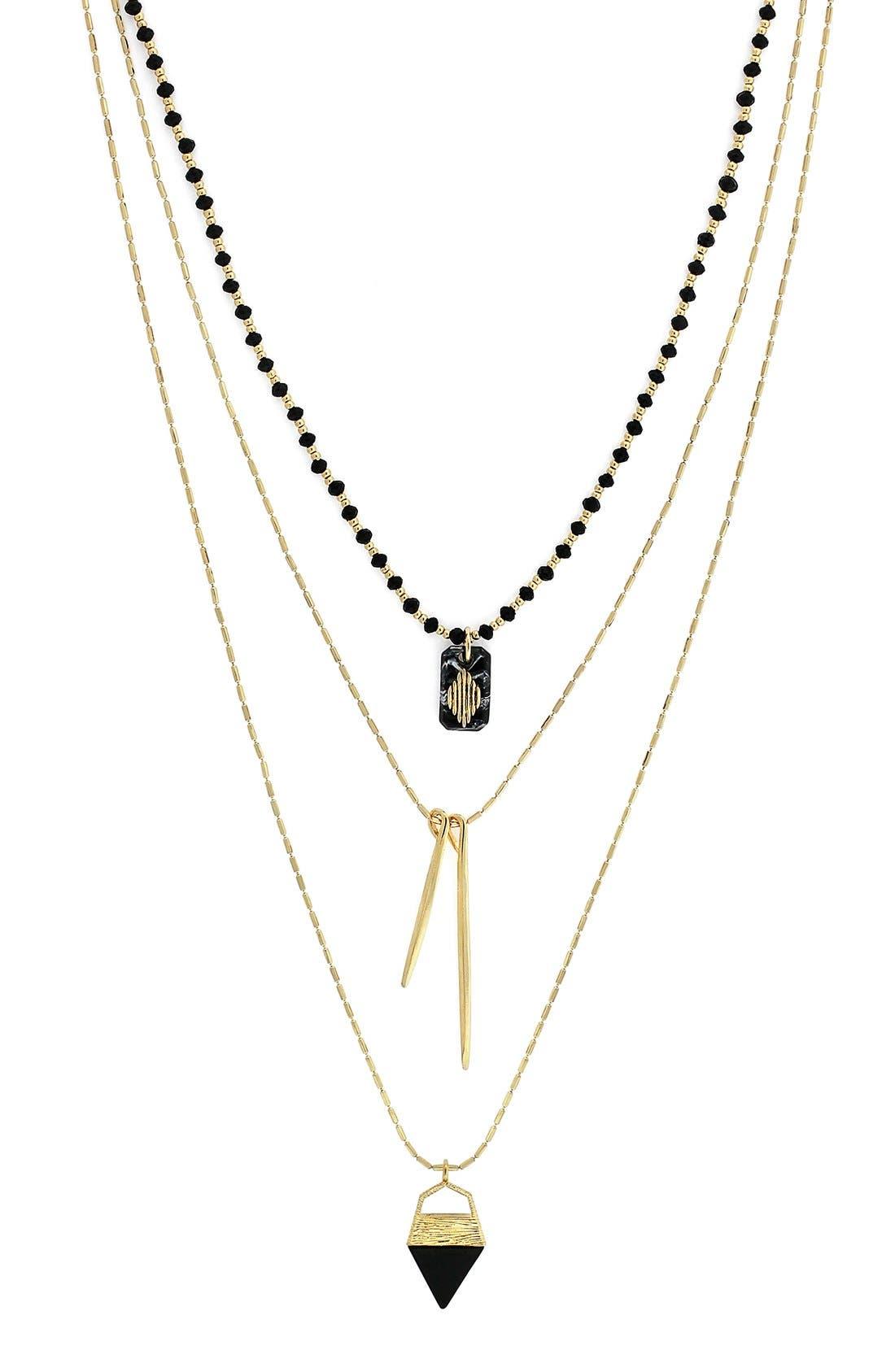Alternate Image 1 Selected - Vince Camuto 'Serengeti Breeze' Triple Strand Necklace