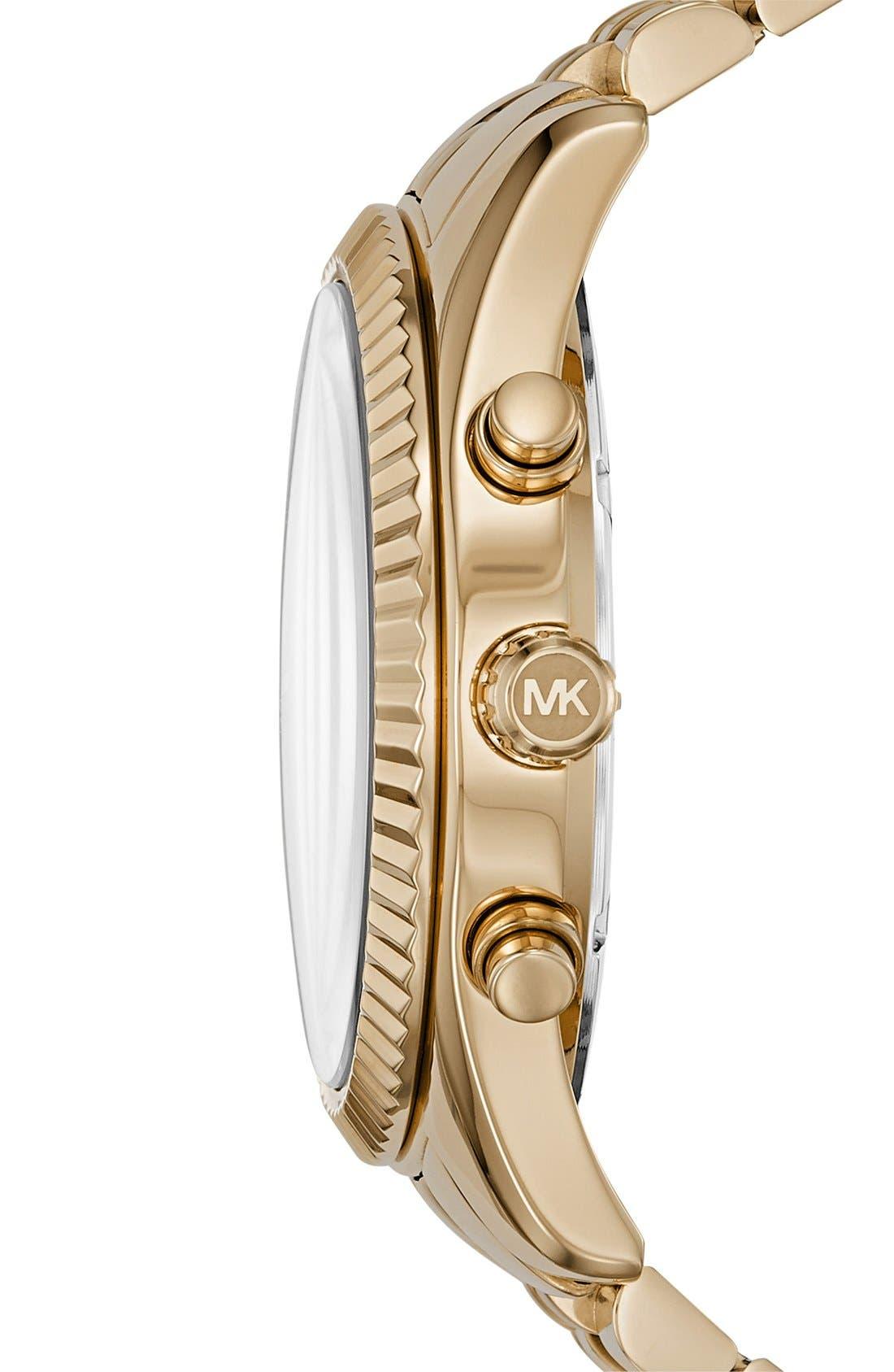 Alternate Image 2  - MICHAEL Michael Kors 'Lexington' Chronograph Bracelet Watch, 44mm