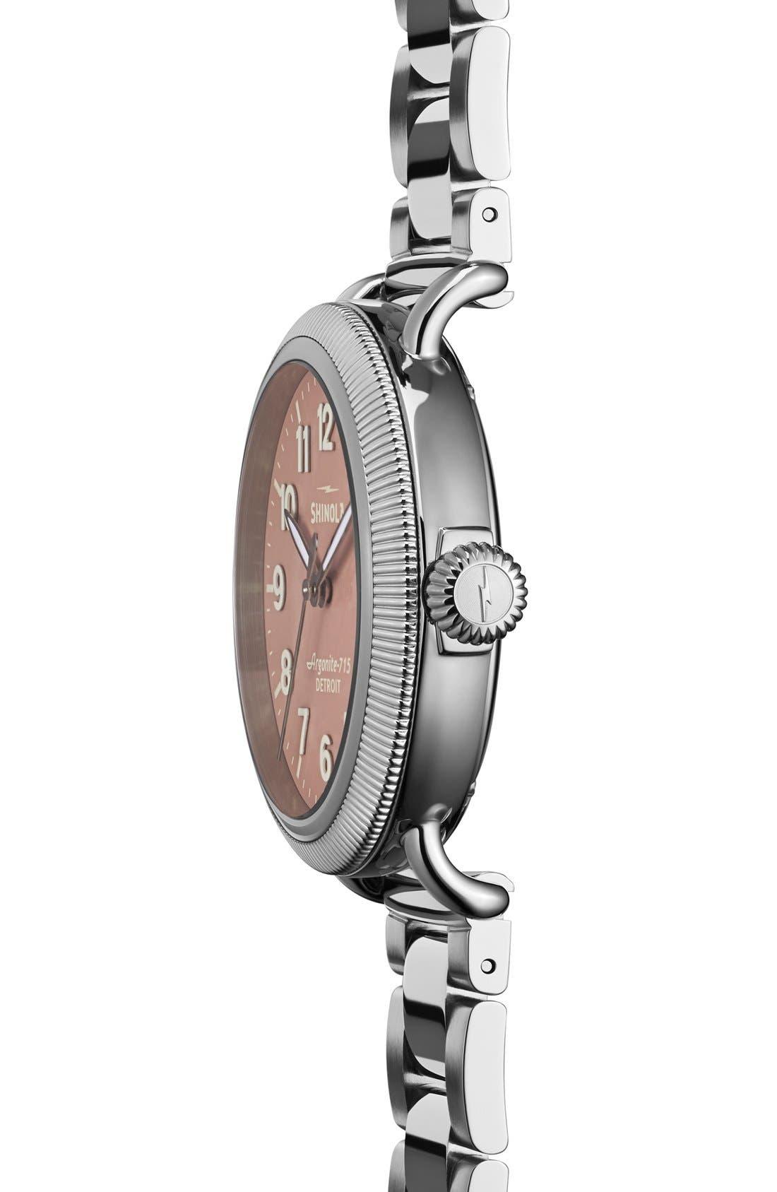 Alternate Image 3  - Shinola 'The Runwell' Leather Bracelet Watch, 38mm