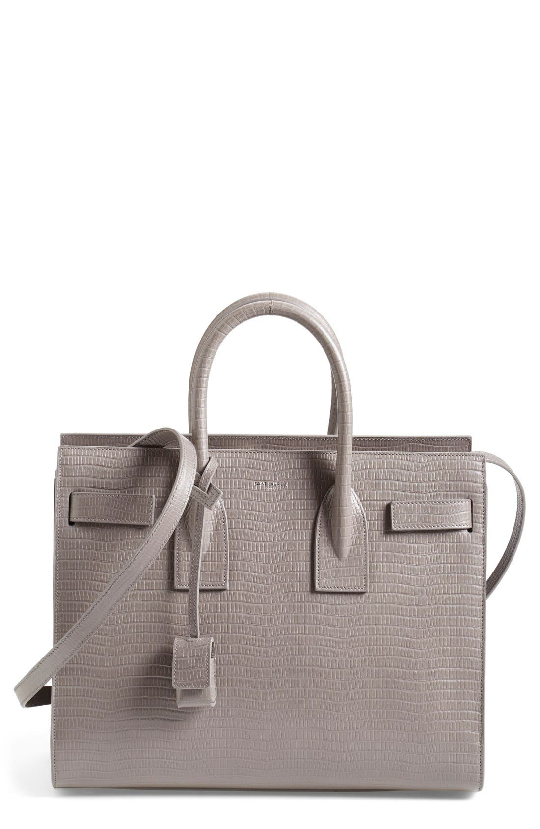 Alternate Image 1 Selected - Saint Laurent 'Small Sac de Jour' Snake Embossed Leather Tote