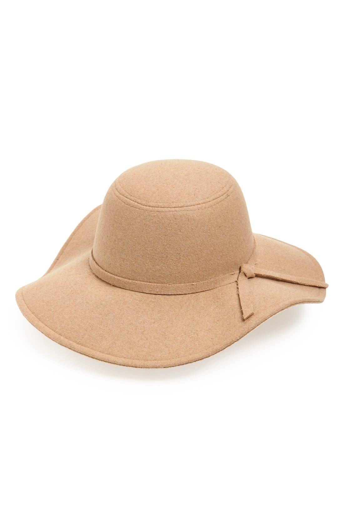 Alternate Image 1 Selected - Leith Floppy Felt Hat