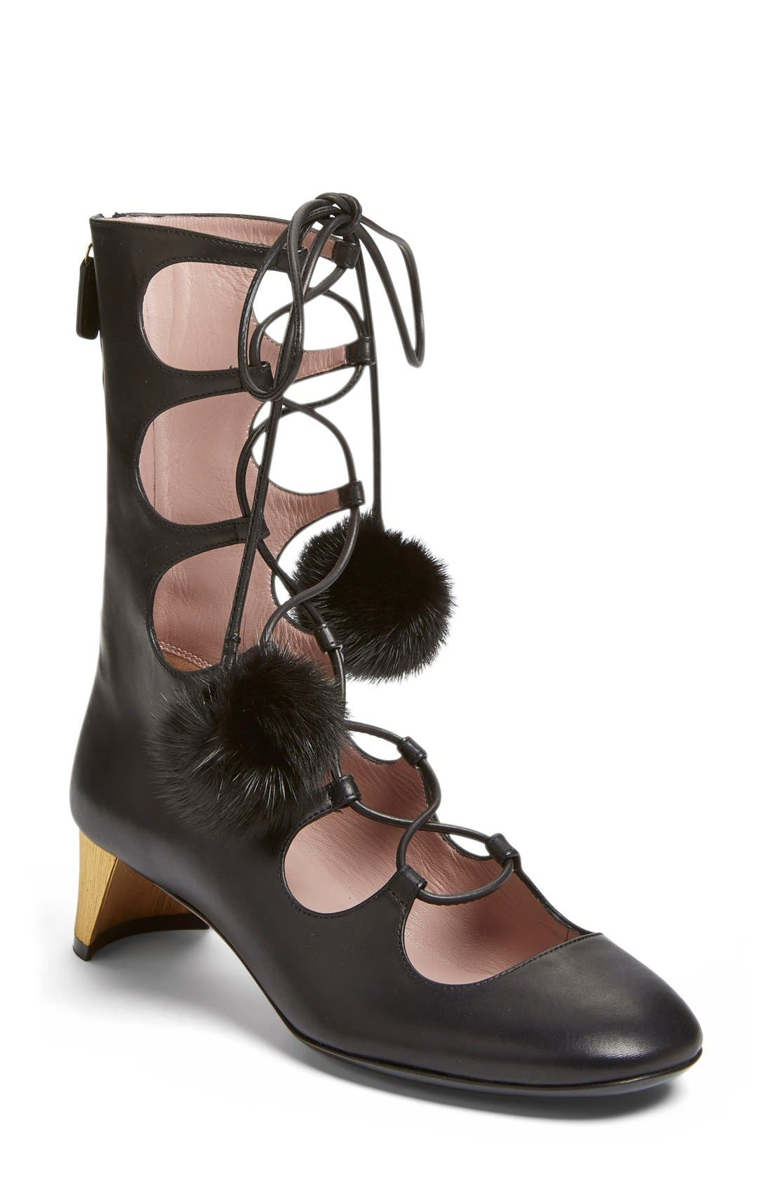 Alternate Image 1 Selected - Gucci 'Heloise' Lace-Up Boot (Women)