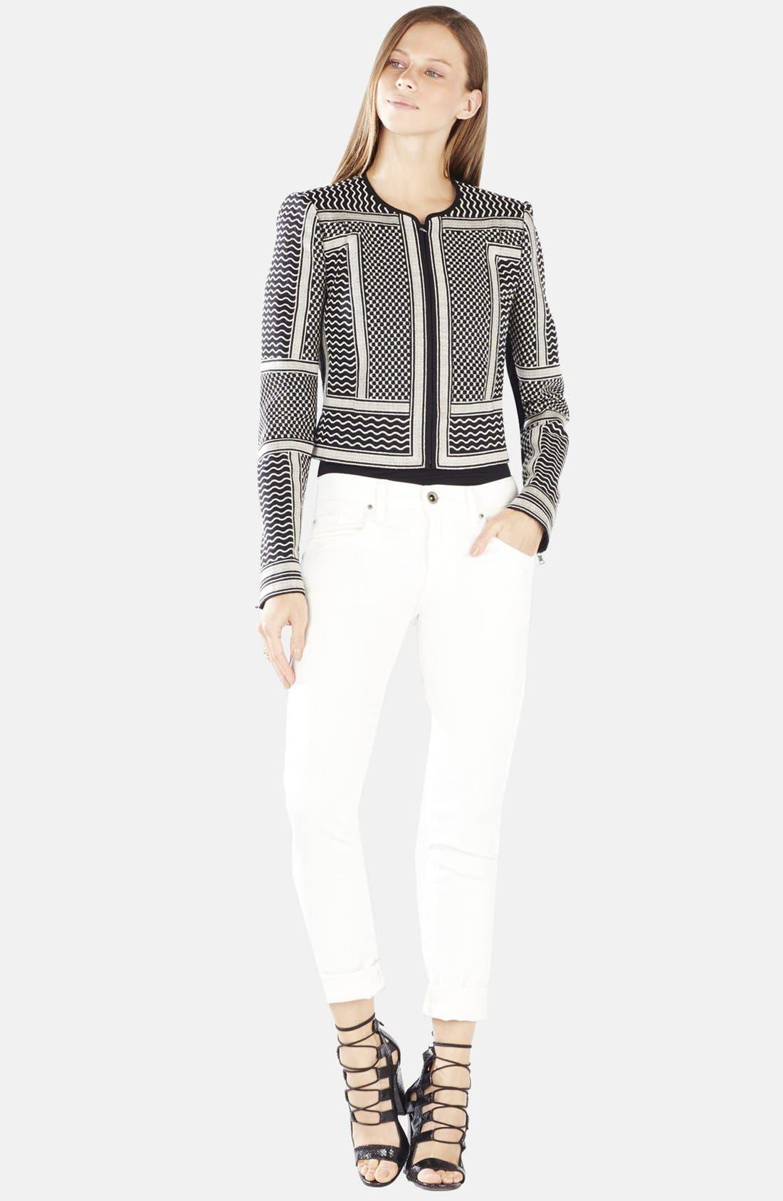 Main Image - BCBGMAXAZRIA 'Duke' Embroidered Jacquard Jacket