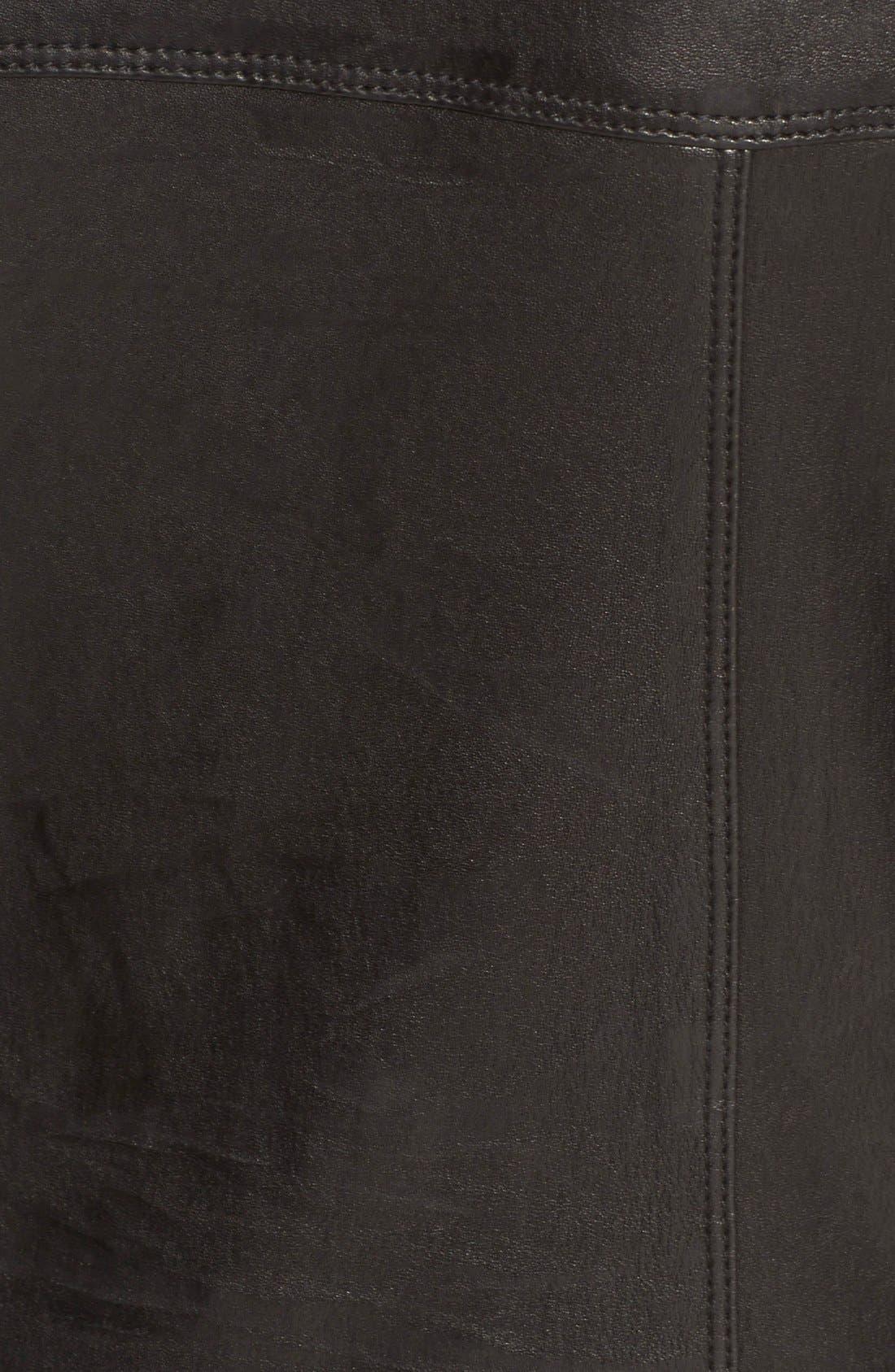 Alternate Image 3  - RtA 'Zouzou' Lambskin Leather Moto Jumpsuit