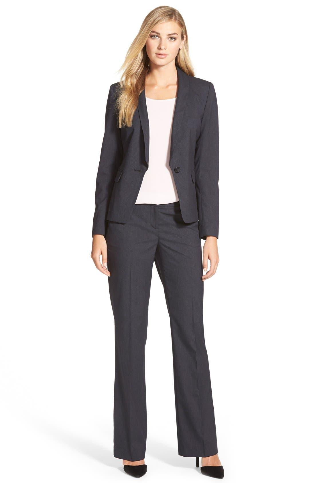 Alternate Image 4  - Halogen® Crosshatch Suit Jacket (Regular & Petite)